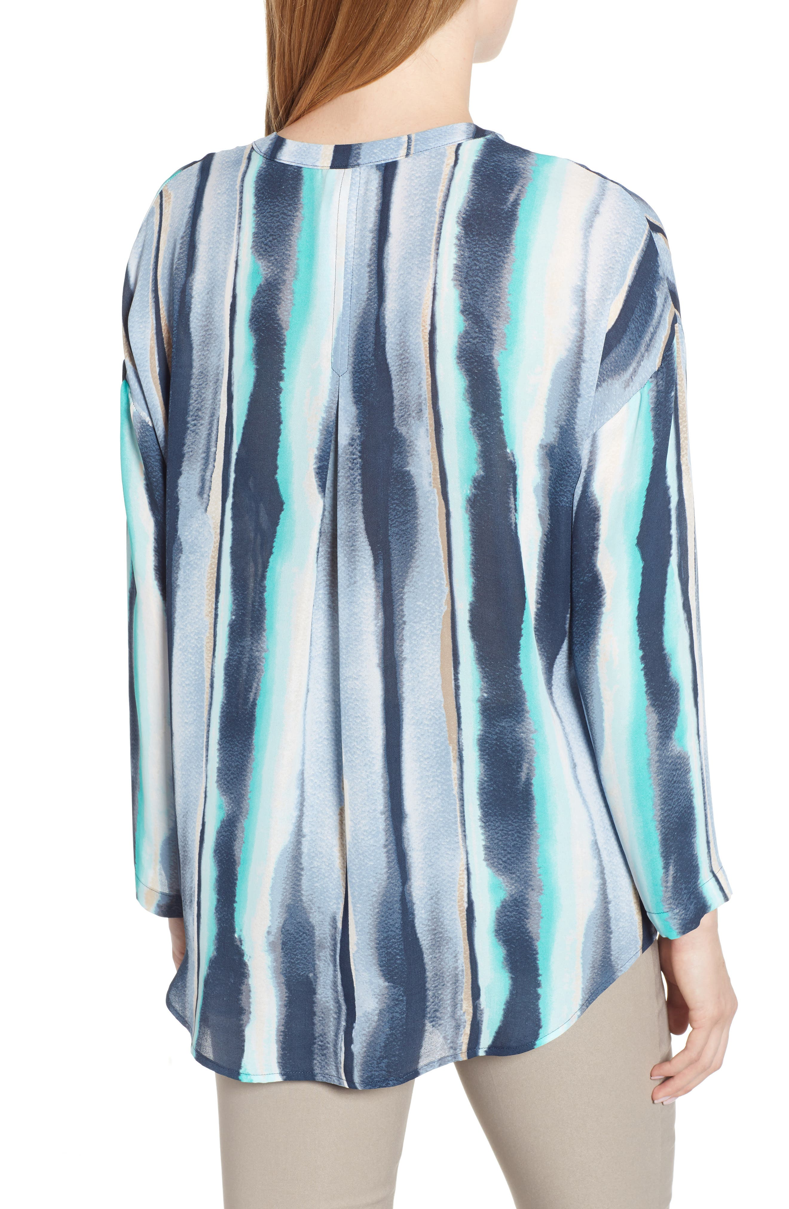 NIC+ZOE, Sea Stripe Long Sleeve Top, Alternate thumbnail 2, color, MULTI