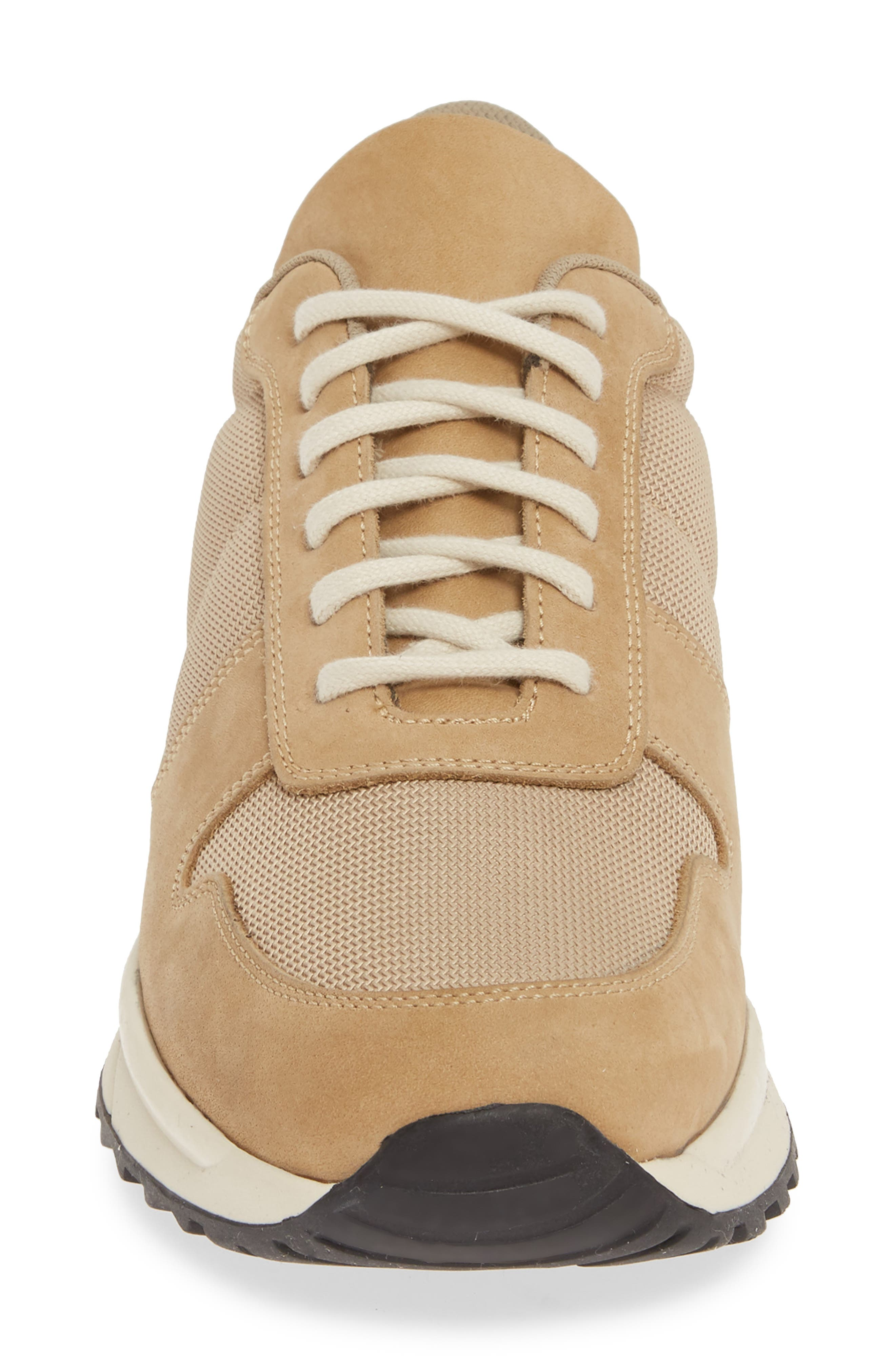 COMMON PROJECTS, Track Vintage Sneaker, Alternate thumbnail 4, color, TAN