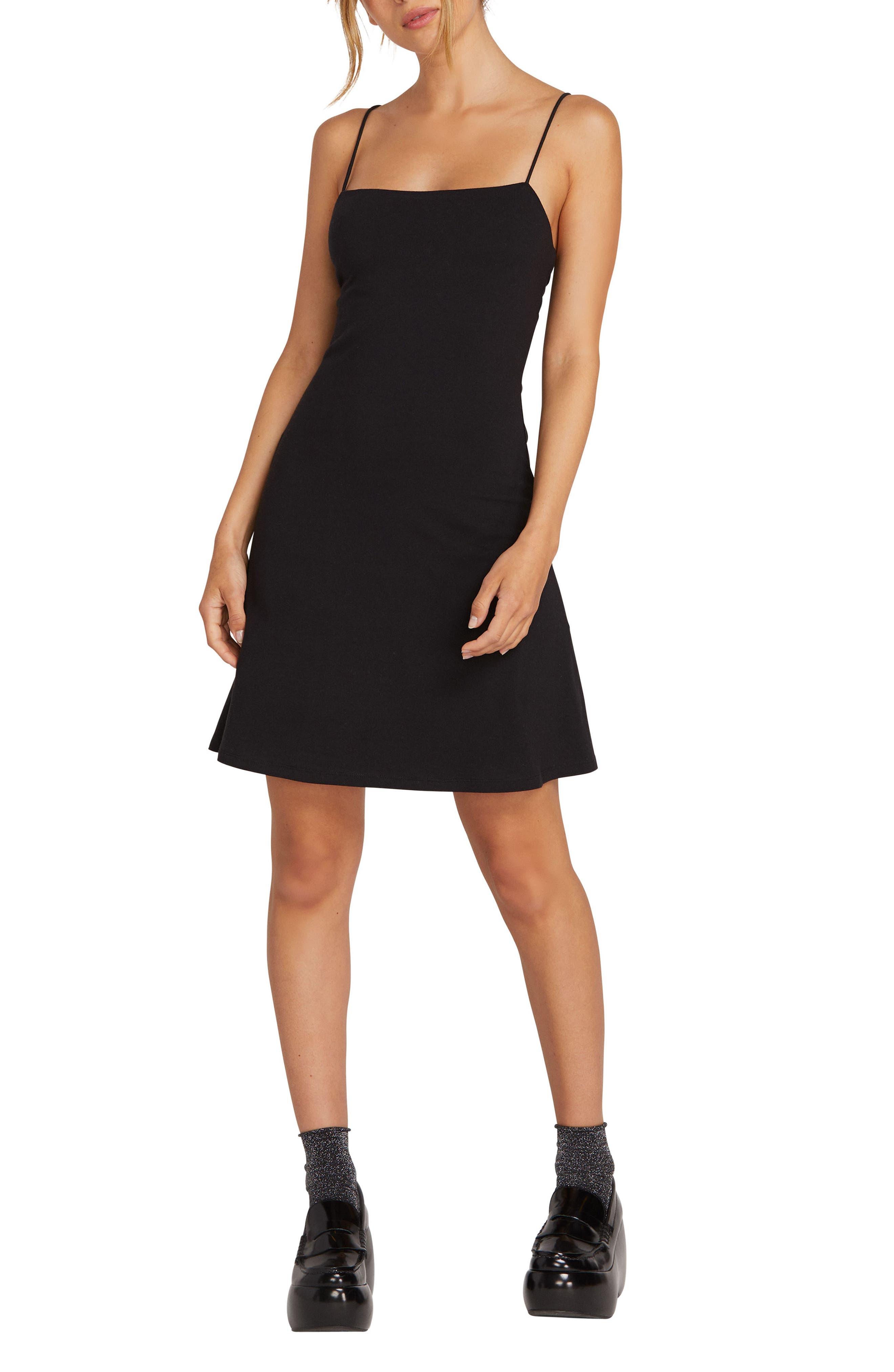 Volcom Cami Skater Dress, Black