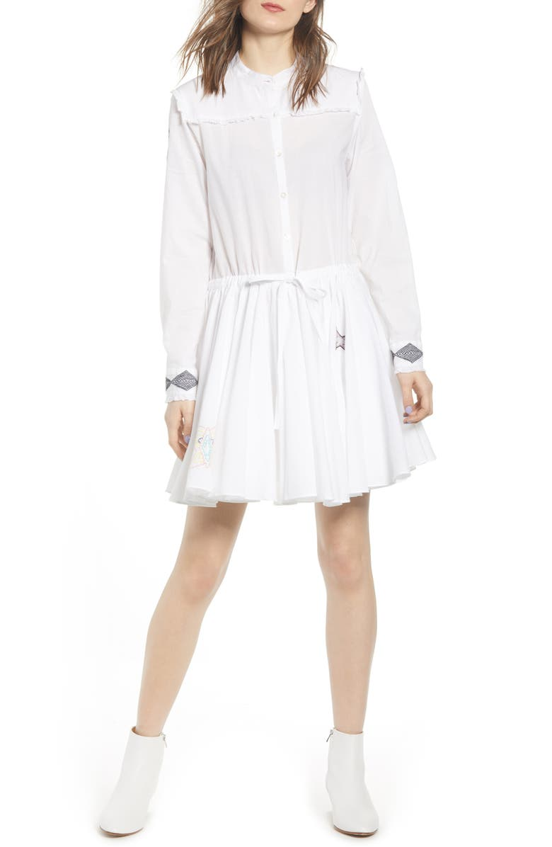 Zadig & Voltaire Dresses RANIL LONG SLEEVE FIT & FLARE DRESS