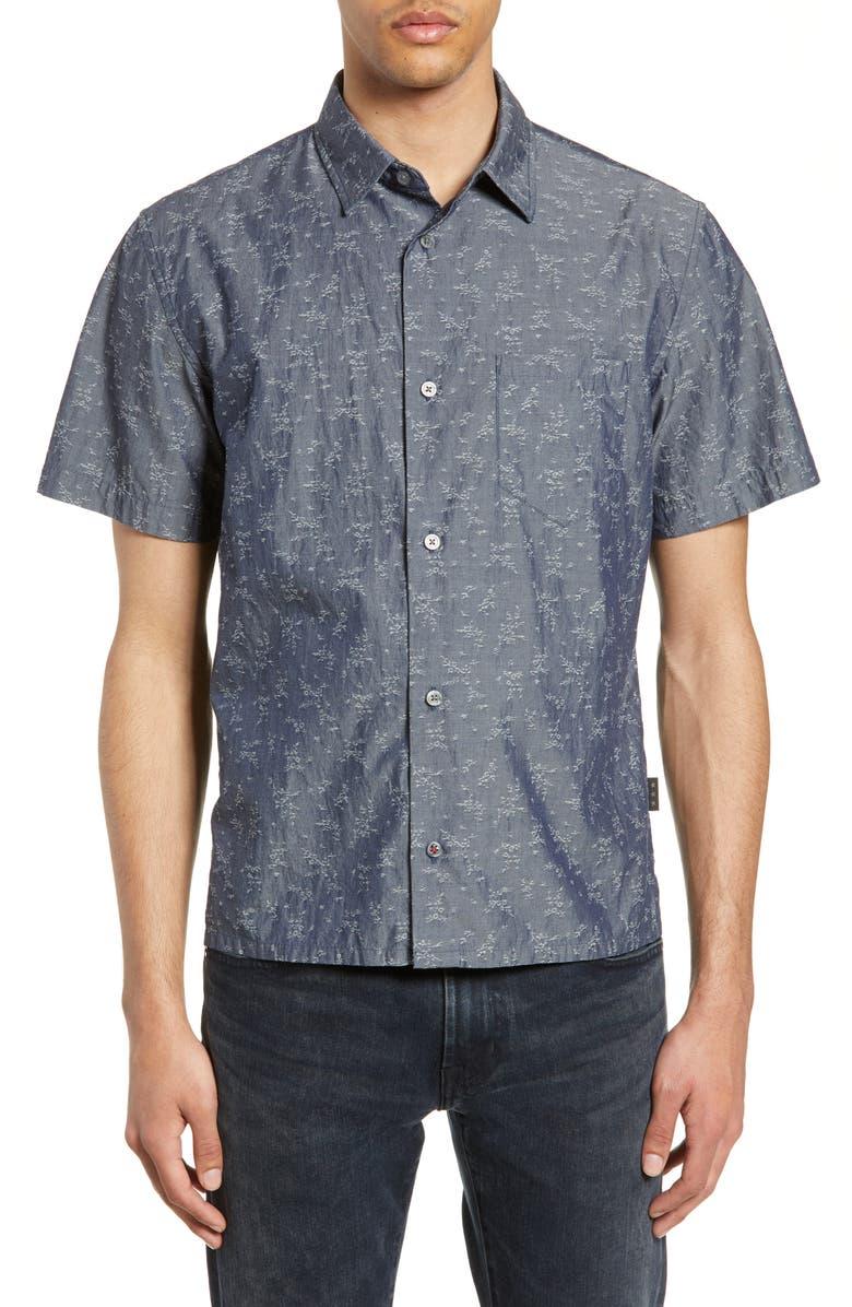 John Varvatos T-shirts TRENT SLIM FIT JACQUARD SPORT SHIRT