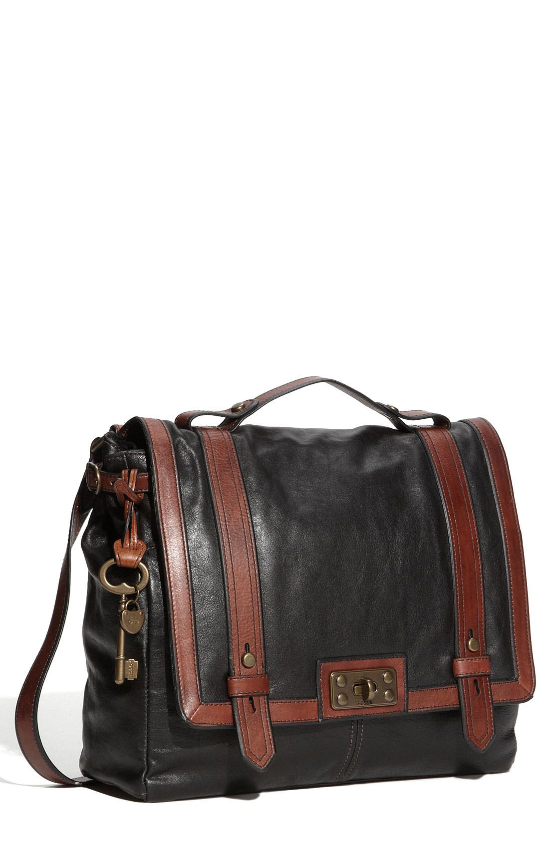 FOSSIL, 'Vintage Reissue' Crossbody Bag, Main thumbnail 1, color, 010
