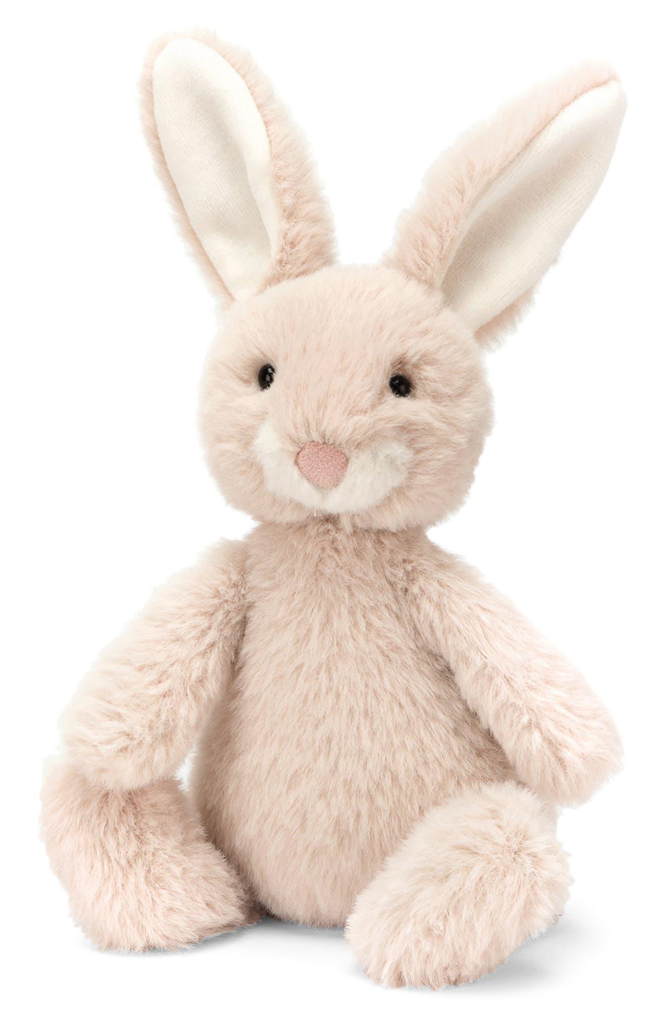 JELLYCAT, Nibbles Oatmeal Bunny Stuffed Animal, Main thumbnail 1, color, CREAM