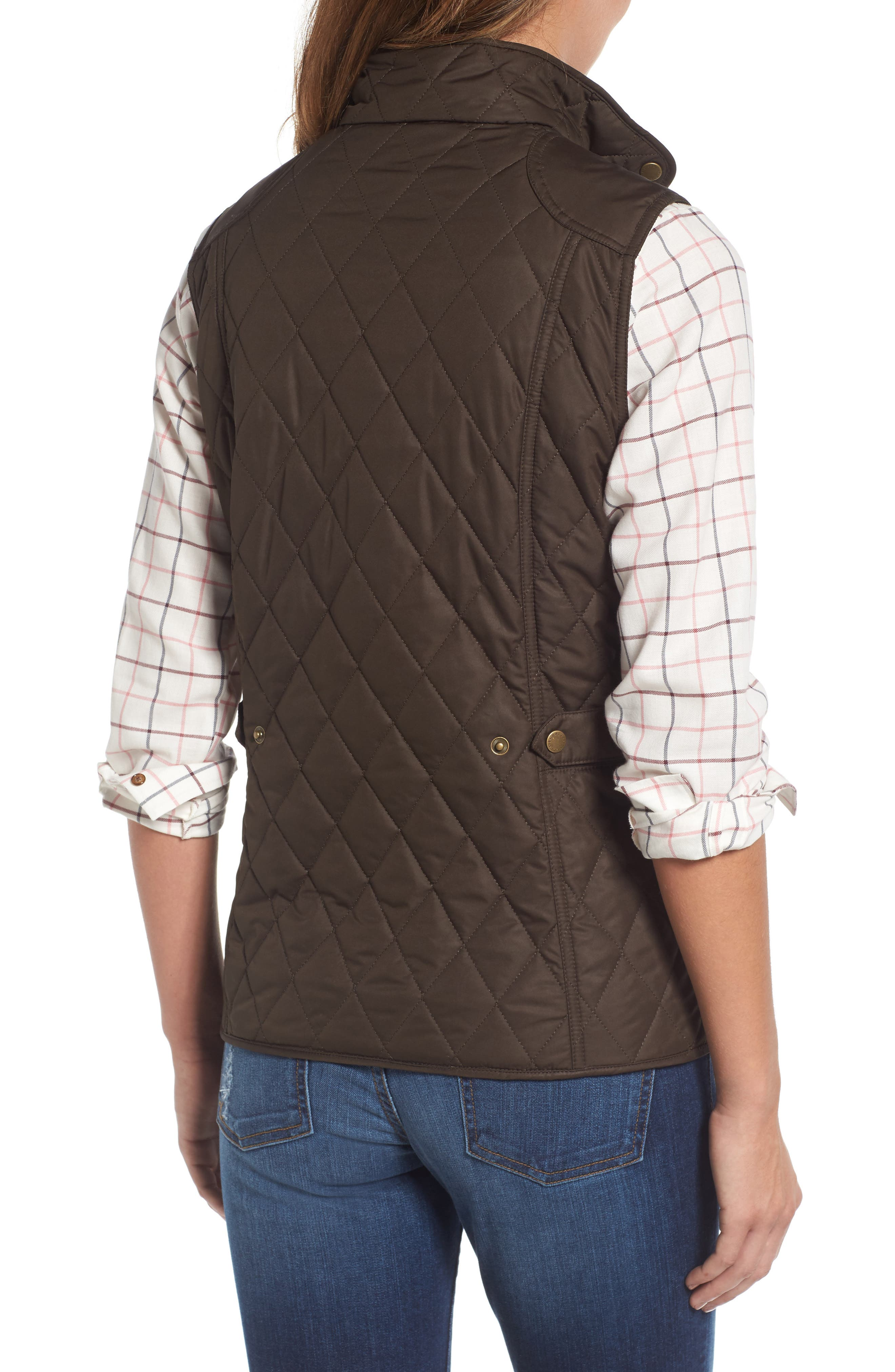 BARBOUR, Saddleworth Quilted Vest, Alternate thumbnail 2, color, 340