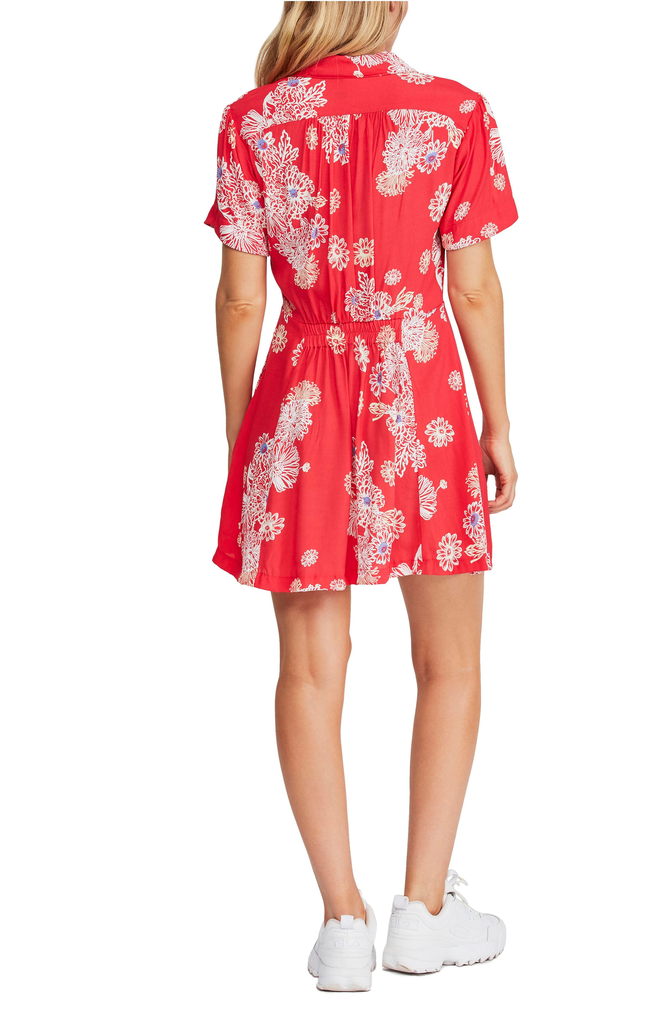 FREE PEOPLE, Blue Hawaii Minidress, Alternate thumbnail 2, color, RED COMBO