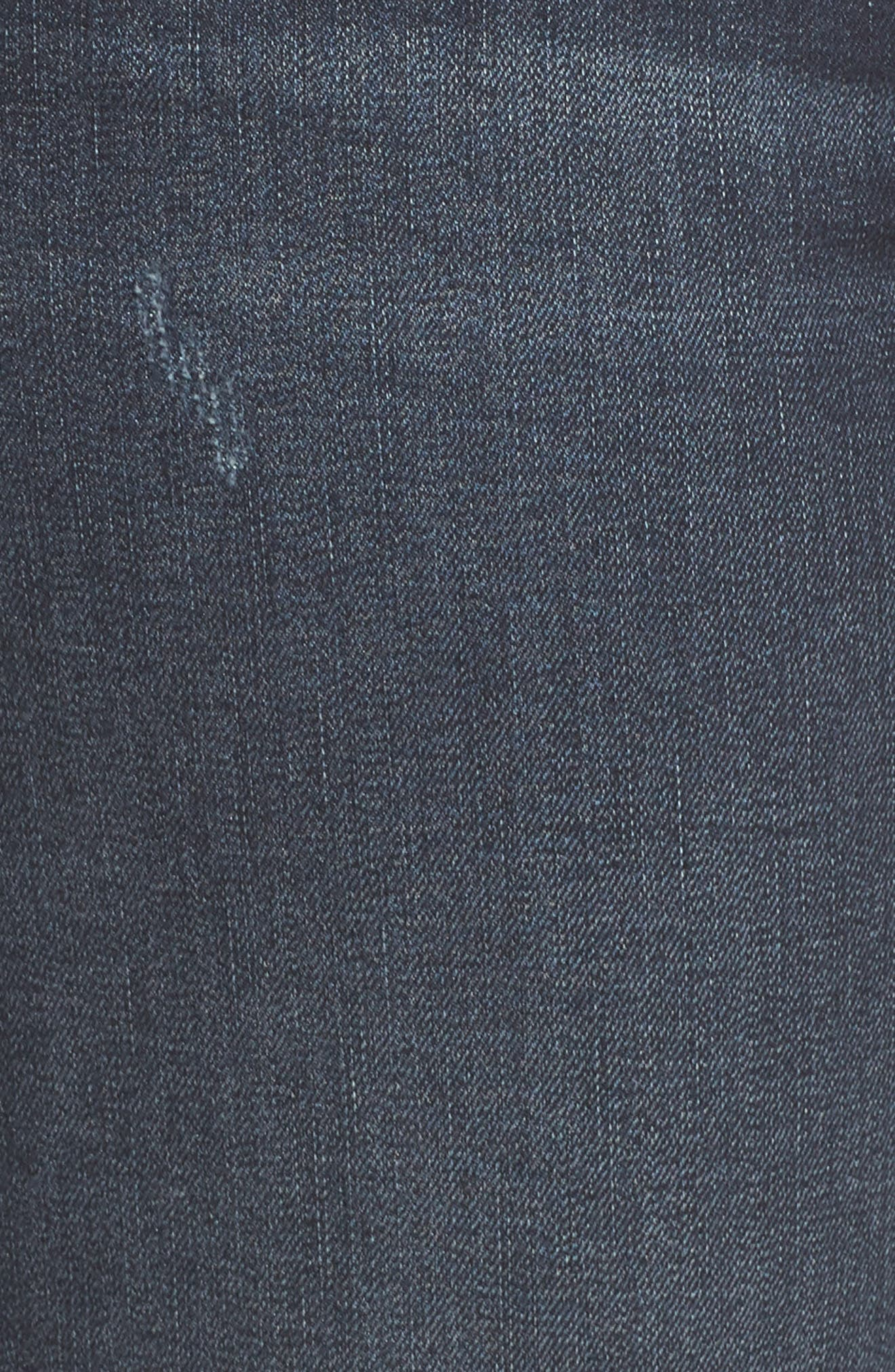 SLINK JEANS, Stretch Ankle Boyfriend Jeans, Alternate thumbnail 6, color, BELLA