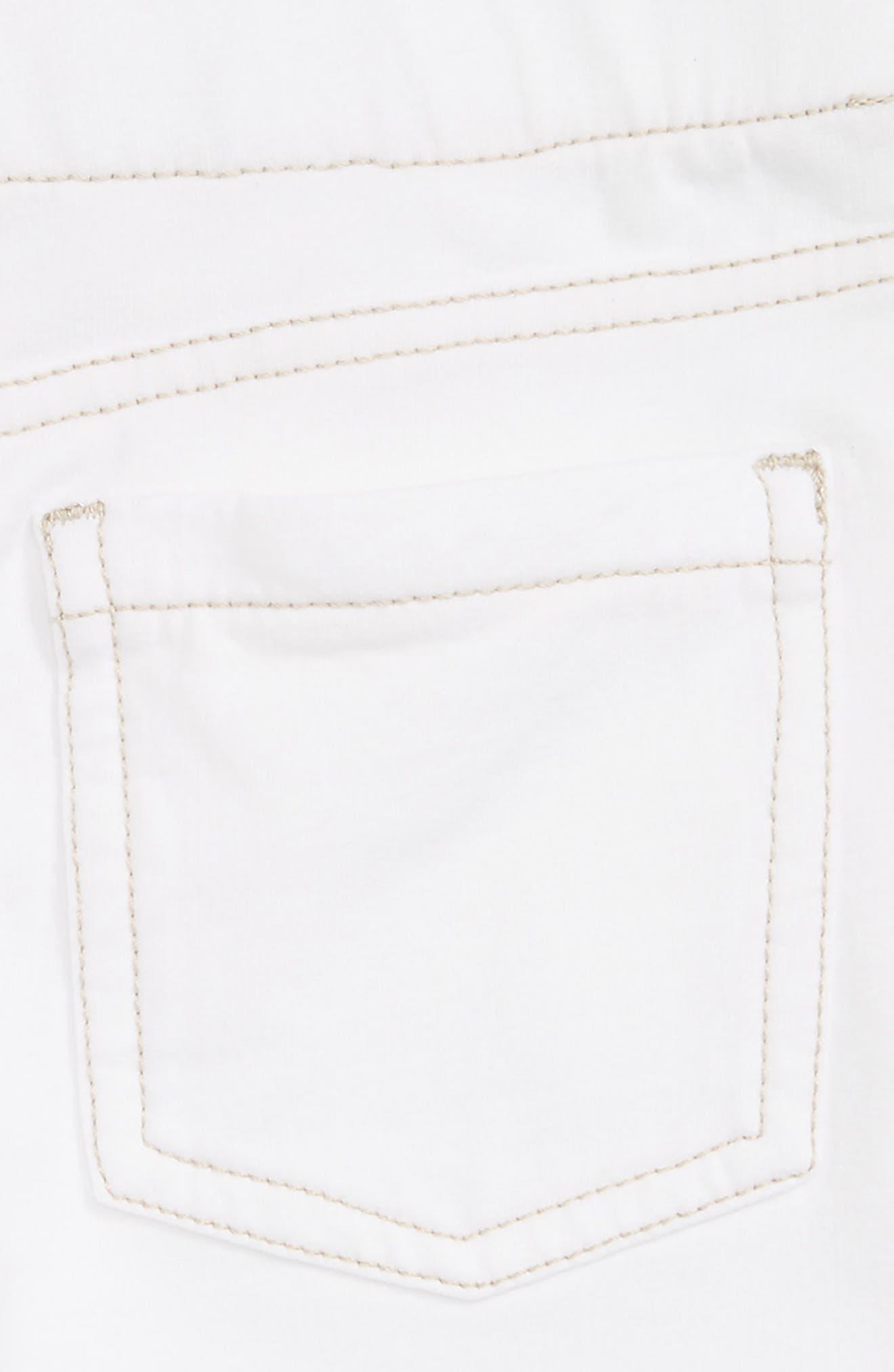 TUCKER + TATE, 'Jenna' Jegging Shorts, Alternate thumbnail 3, color, WHITE