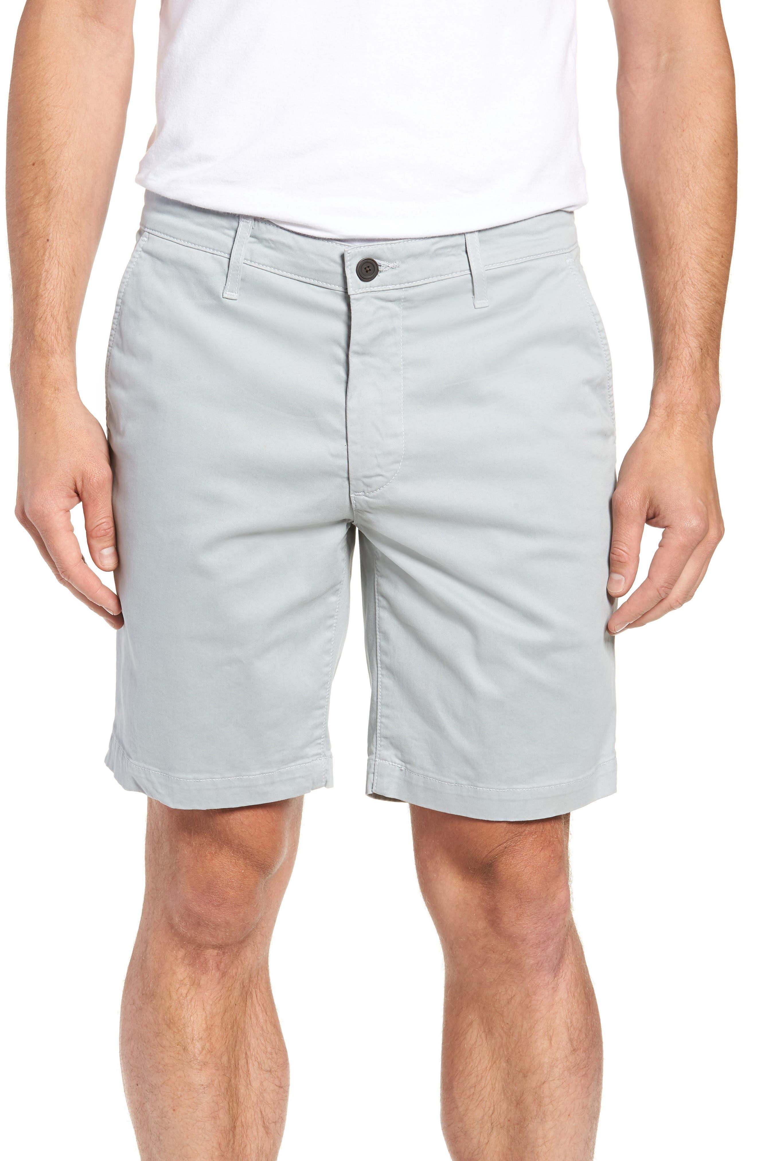 AG, Wanderer Modern Slim Fit Shorts, Main thumbnail 1, color, MORNING MIST