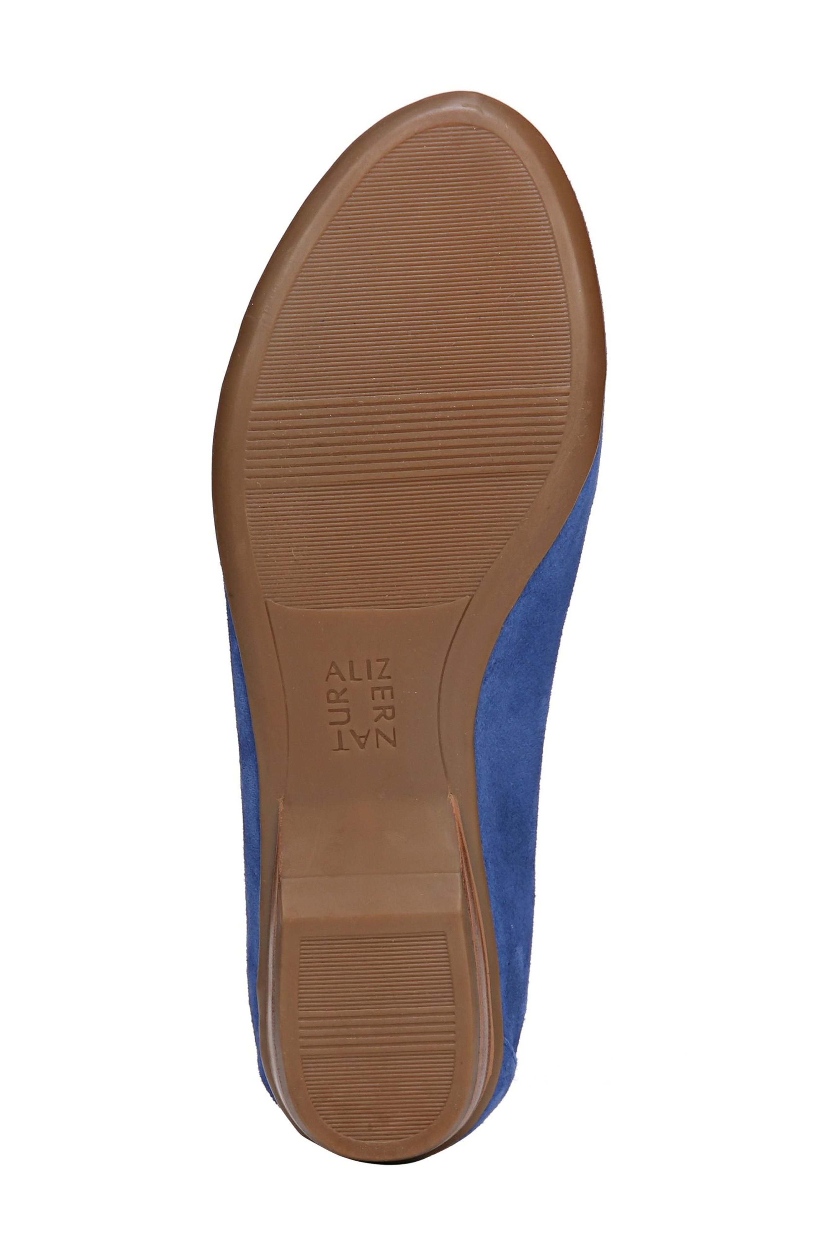 NATURALIZER, 'Saban' Leather Loafer, Alternate thumbnail 6, color, FRENCH BLUE SUEDE