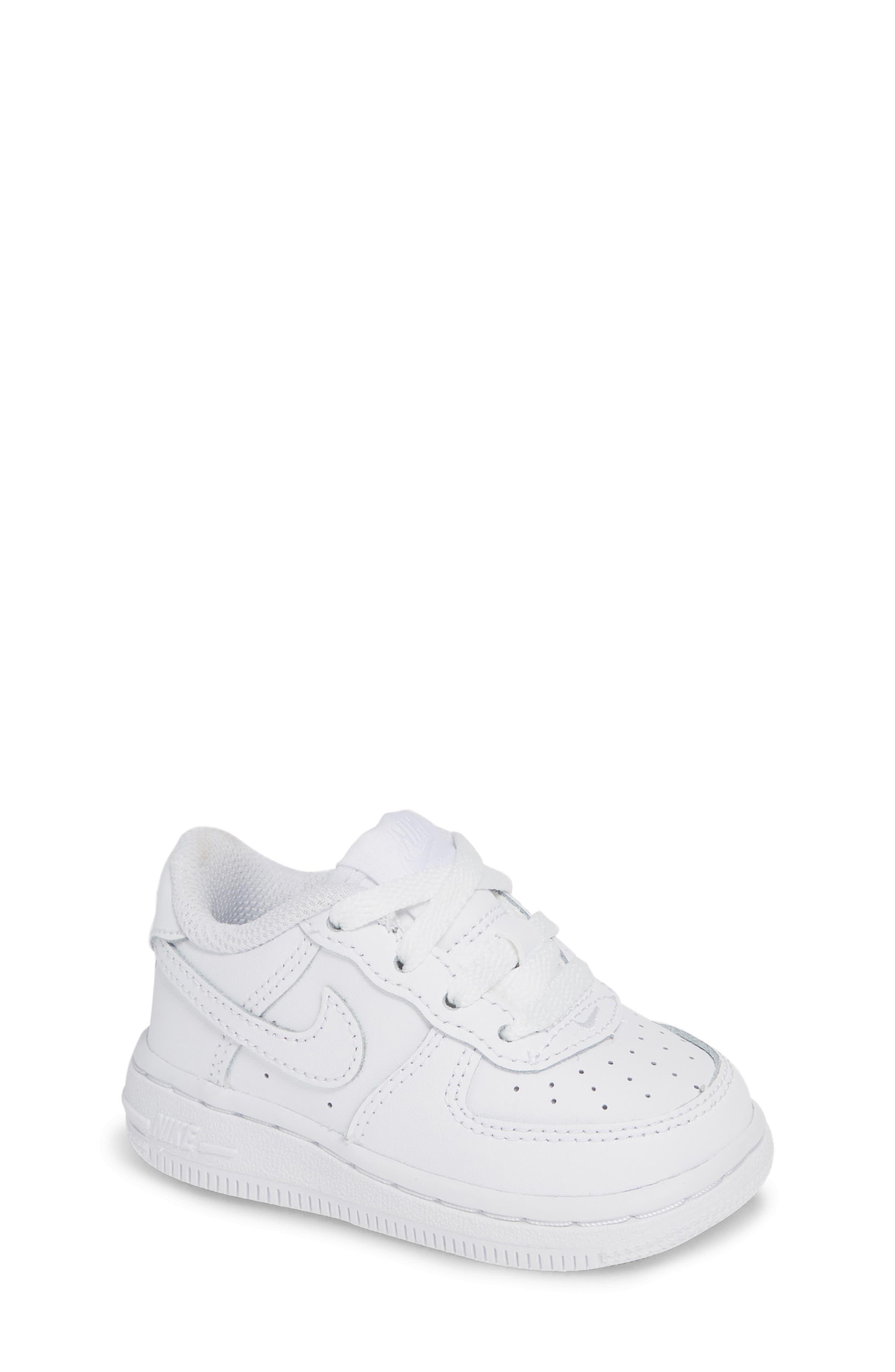 NIKE, Air Force 1 Sneaker, Main thumbnail 1, color, WHITE