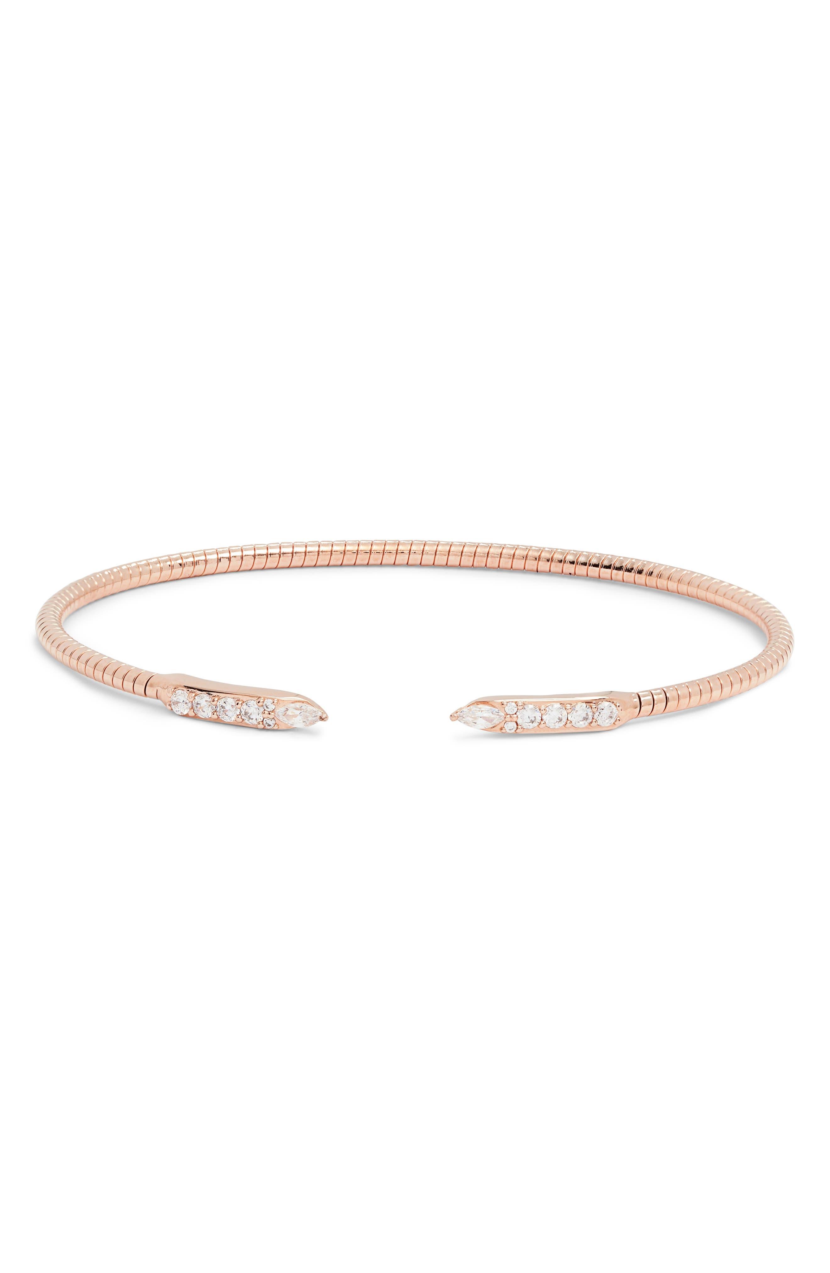NADRI Flexi Cuff Bracelet, Main, color, ROSE GOLD