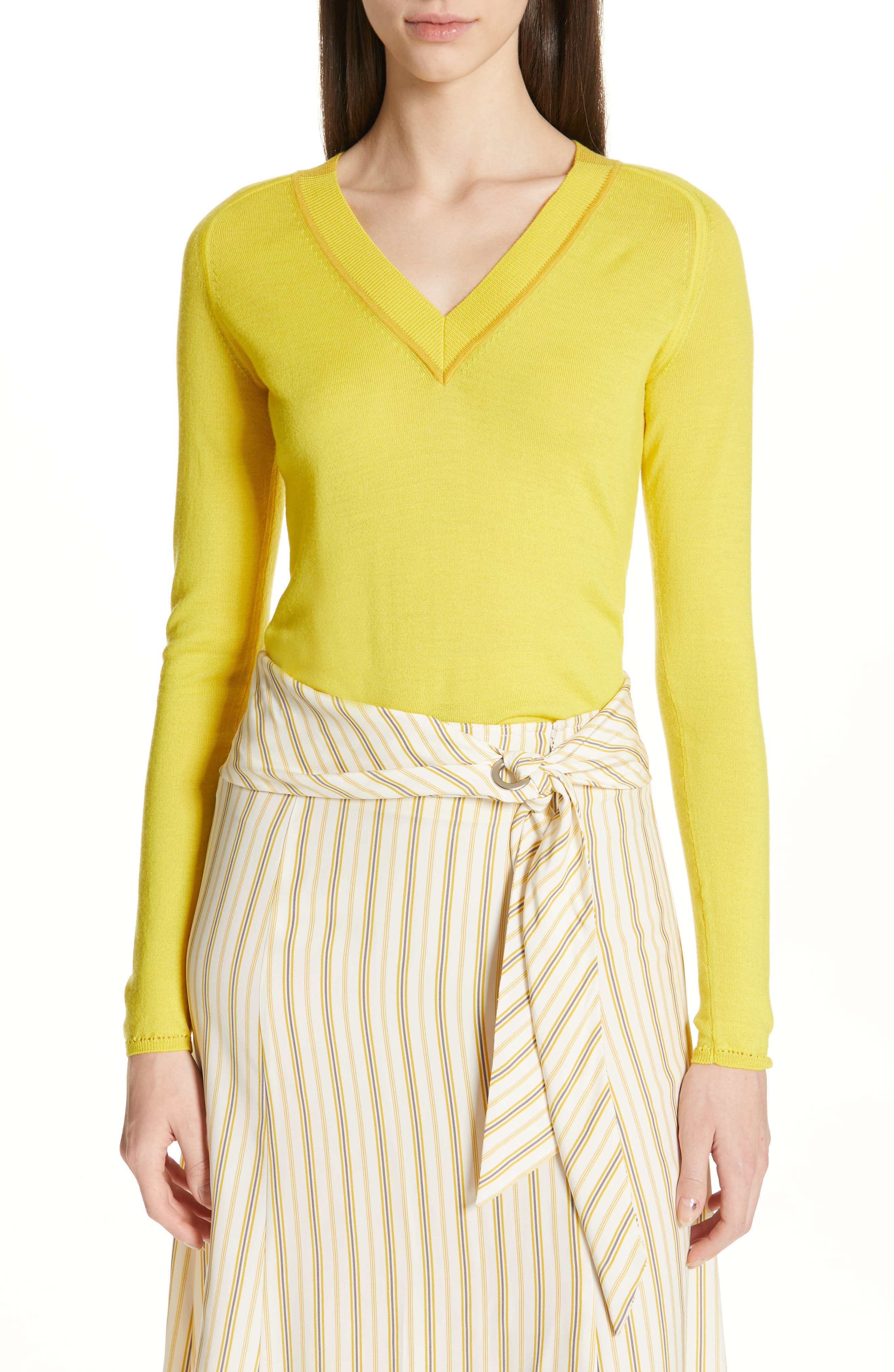 Rag & Bone Pamela Merino Wool Sweater, Yellow