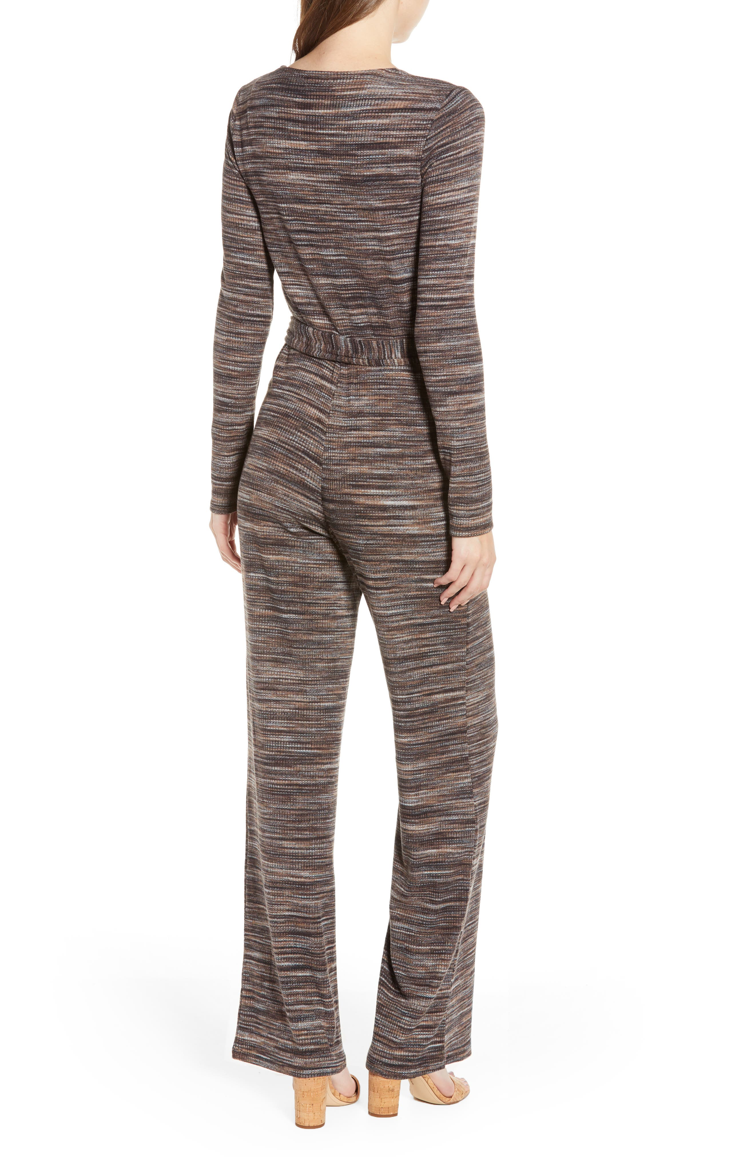 LOVE, FIRE, Belted Stripe Jumpsuit, Alternate thumbnail 2, color, 250