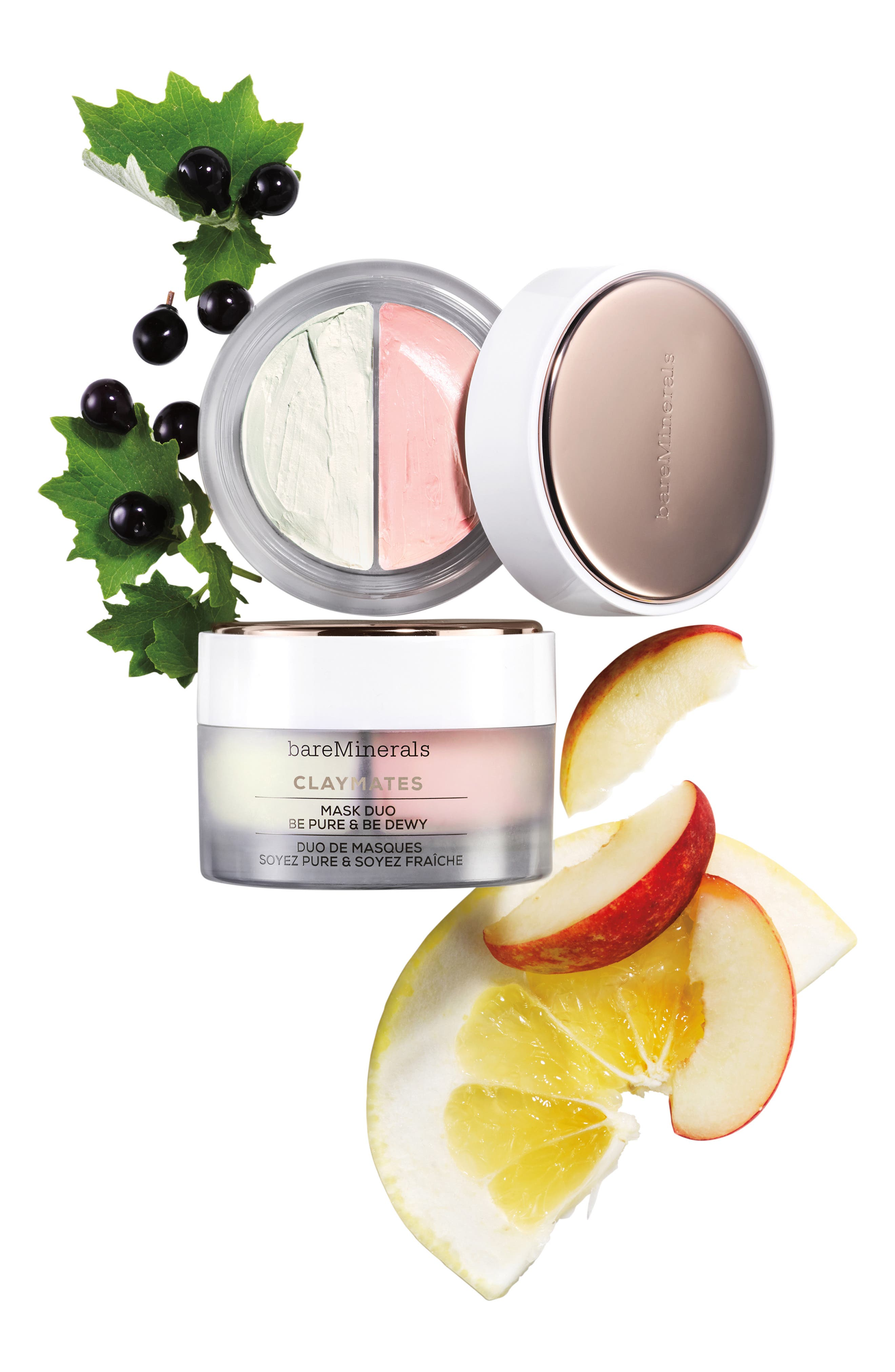 BAREMINERALS<SUP>®</SUP>, Be Pure & Be Dewy Claymates Mask Duo, Alternate thumbnail 4, color, NO COLOR