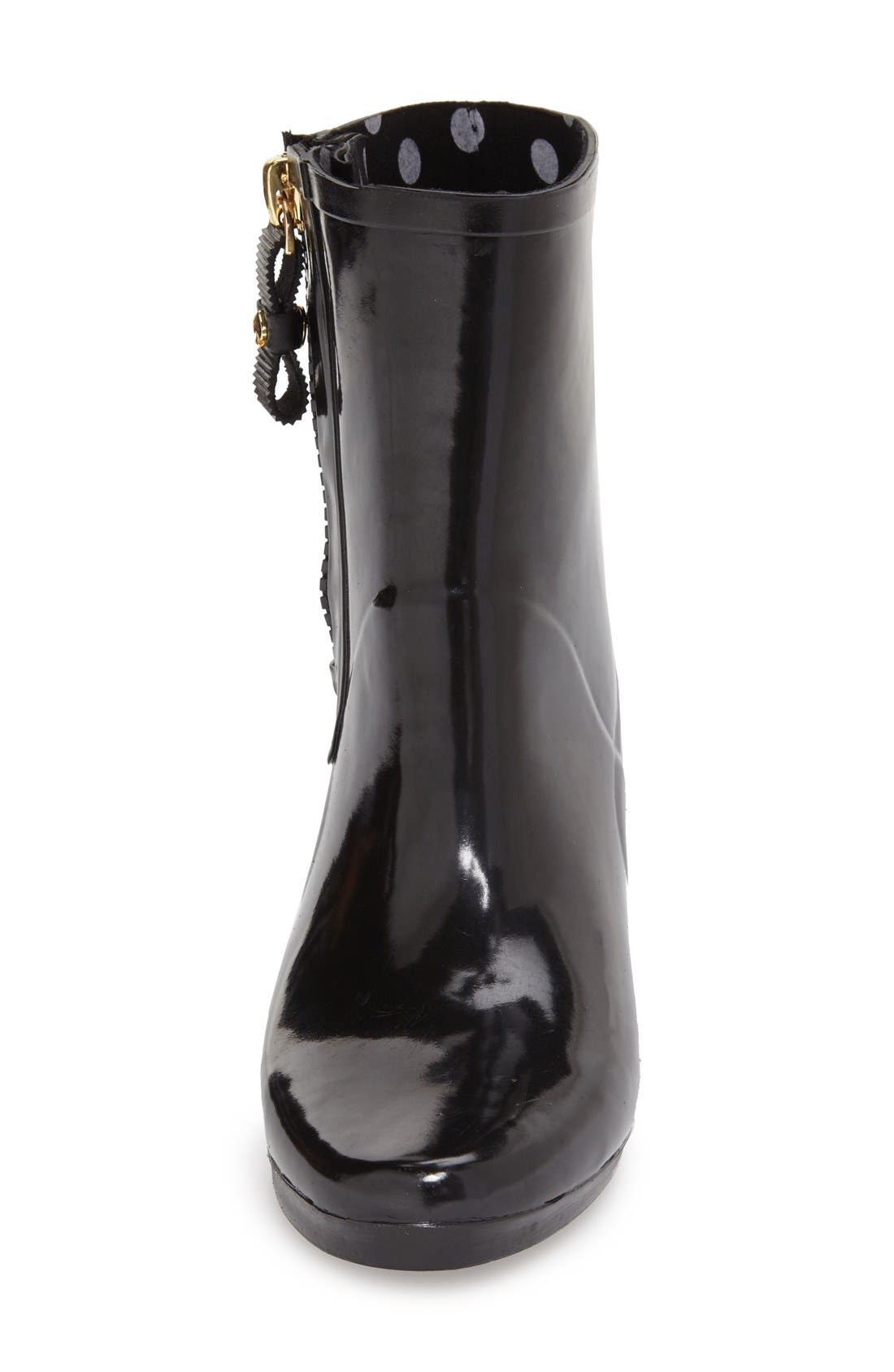 KATE SPADE NEW YORK, 'penny' rain boot, Alternate thumbnail 2, color, 001