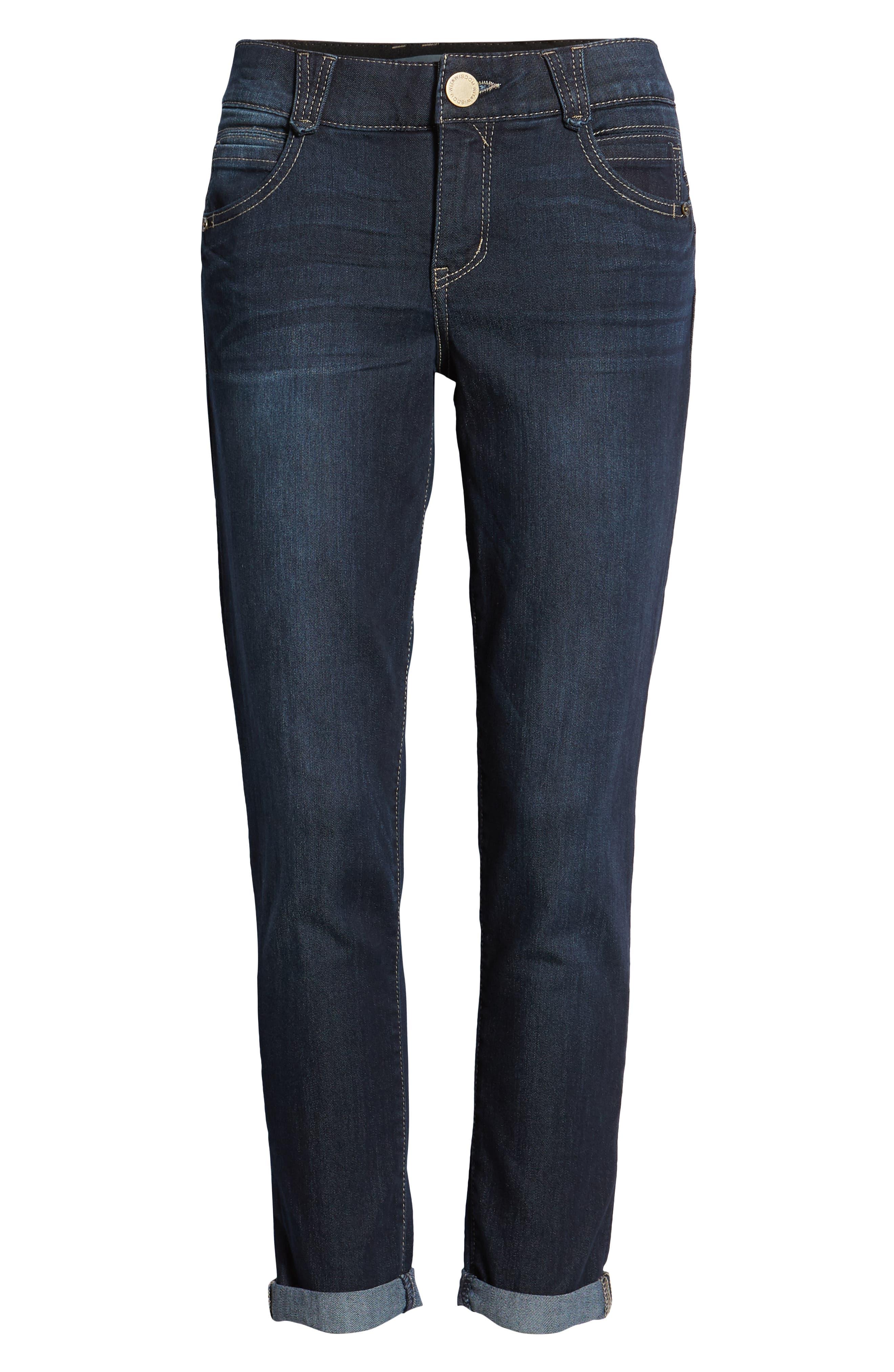WIT & WISDOM, Ab-Solution Ankle Skimmer Jeans, Alternate thumbnail 7, color, INDIGO