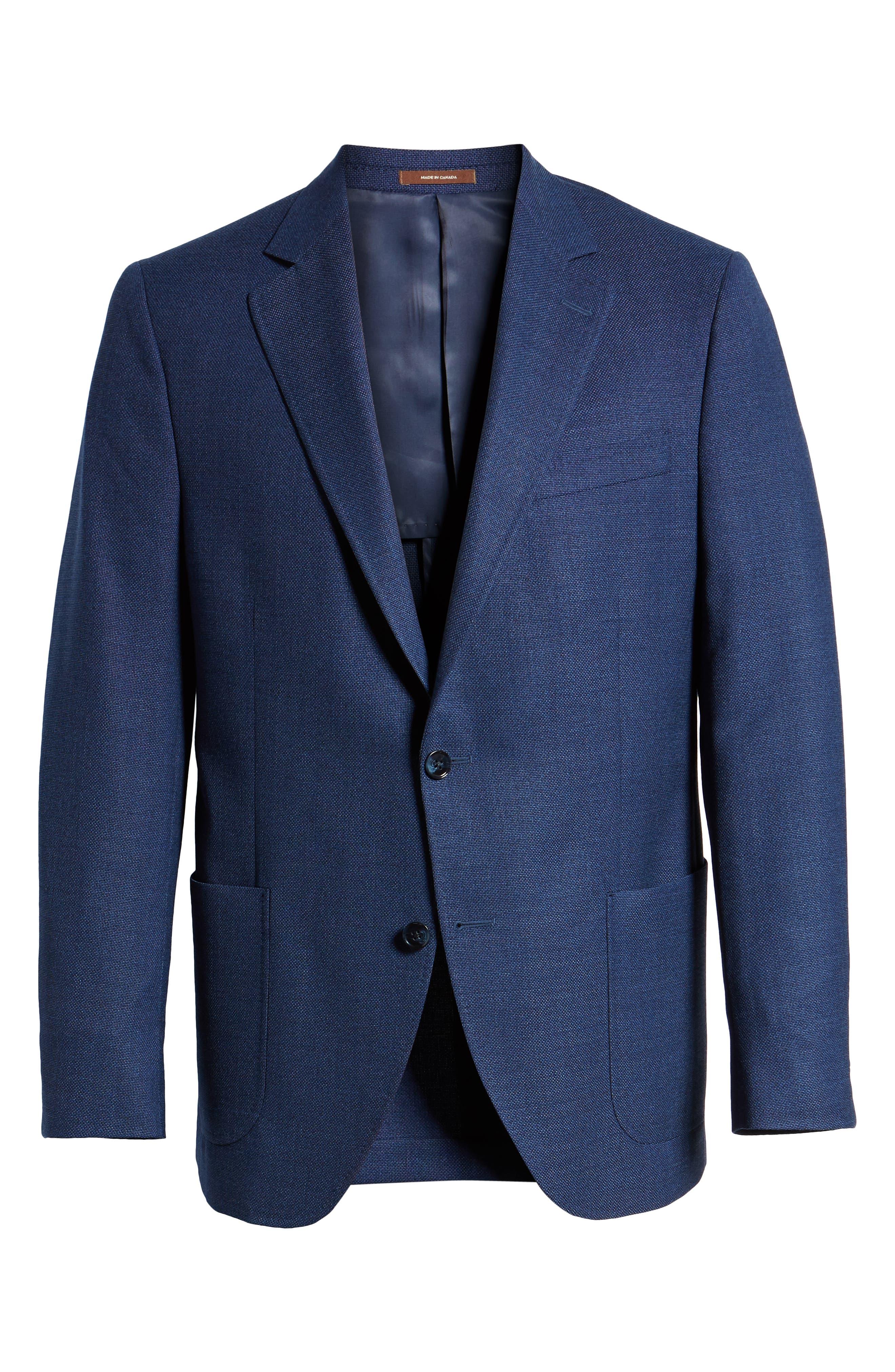 PETER MILLAR, Hyperlight Classic Fit Wool Sport Coat, Alternate thumbnail 5, color, 400