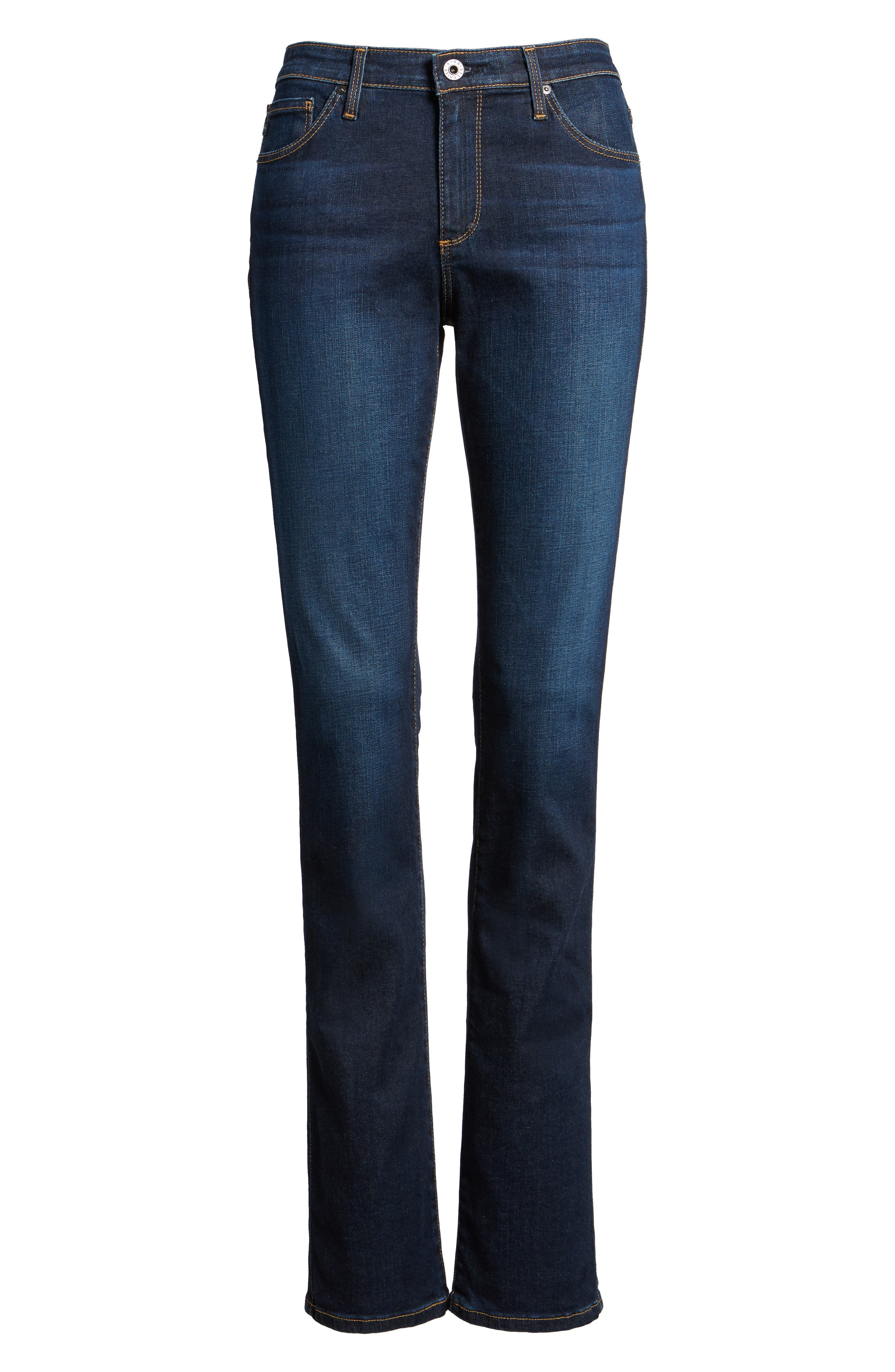 AG, Harper Slim Straight Leg Jeans, Alternate thumbnail 2, color, SMITTEN