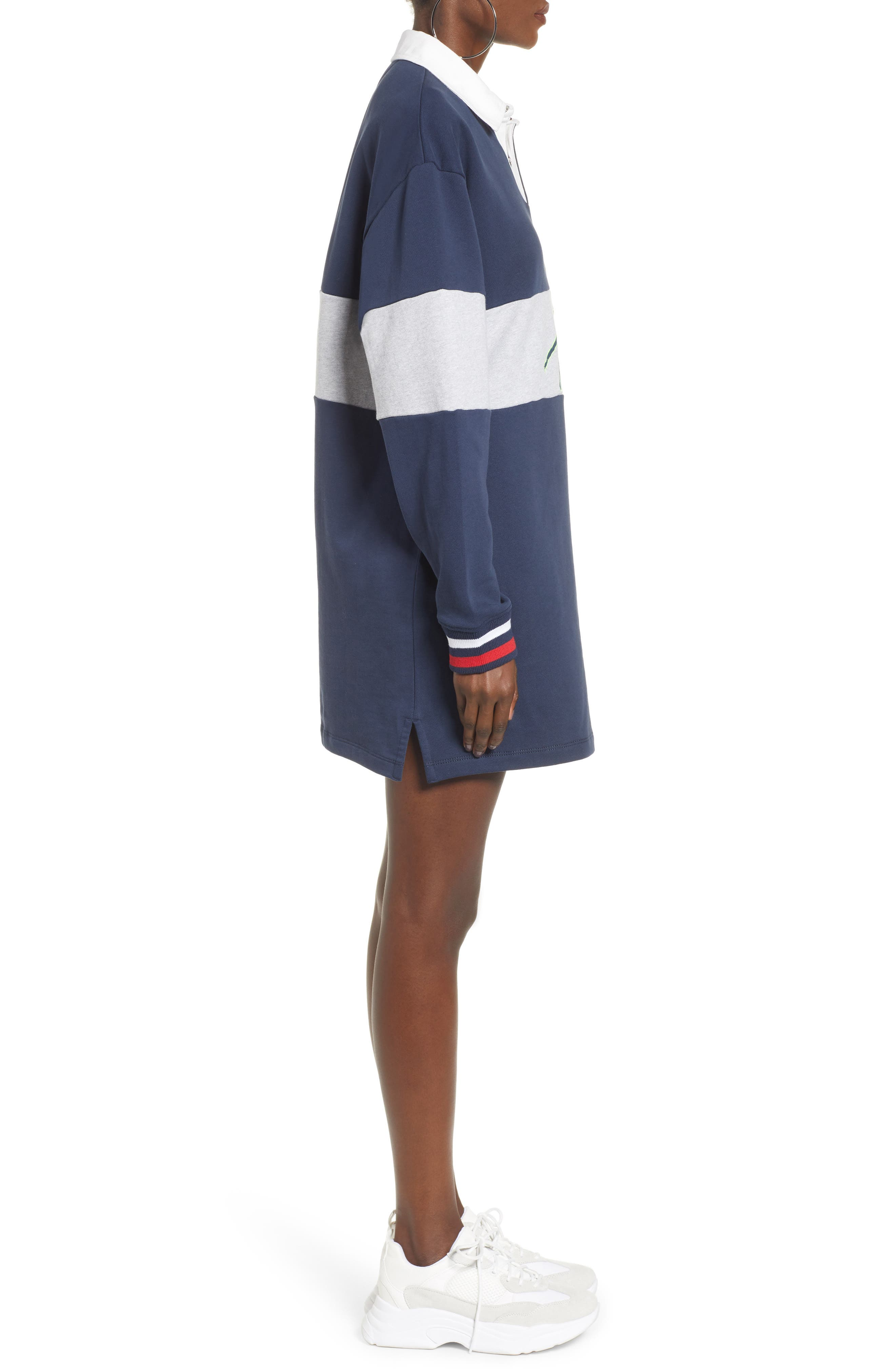 TOMMY JEANS, Logo Rugby Dress, Alternate thumbnail 4, color, 400