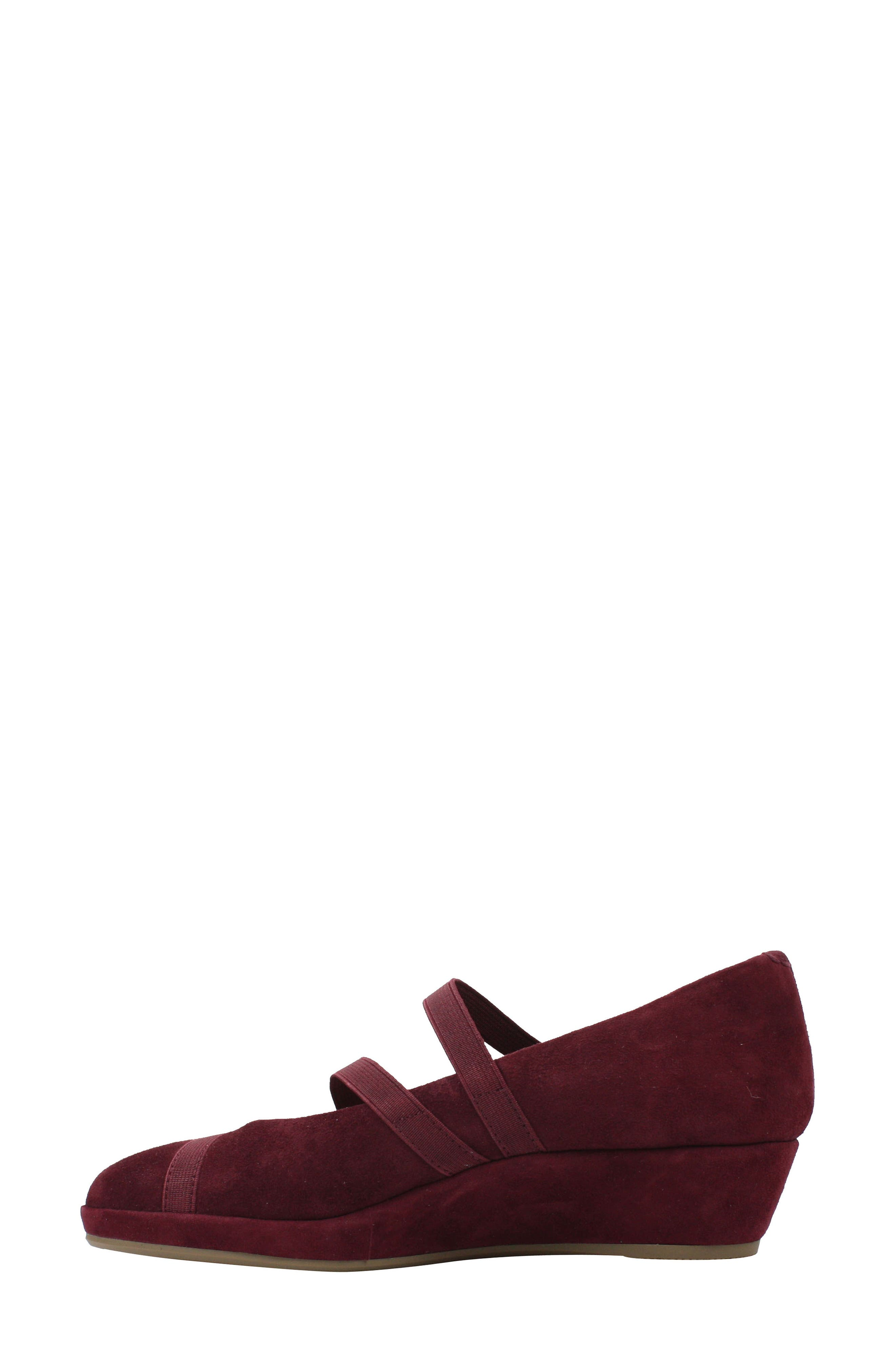 L'AMOUR DES PIEDS, Berency Wedge, Alternate thumbnail 7, color, MULBERRY SUEDE