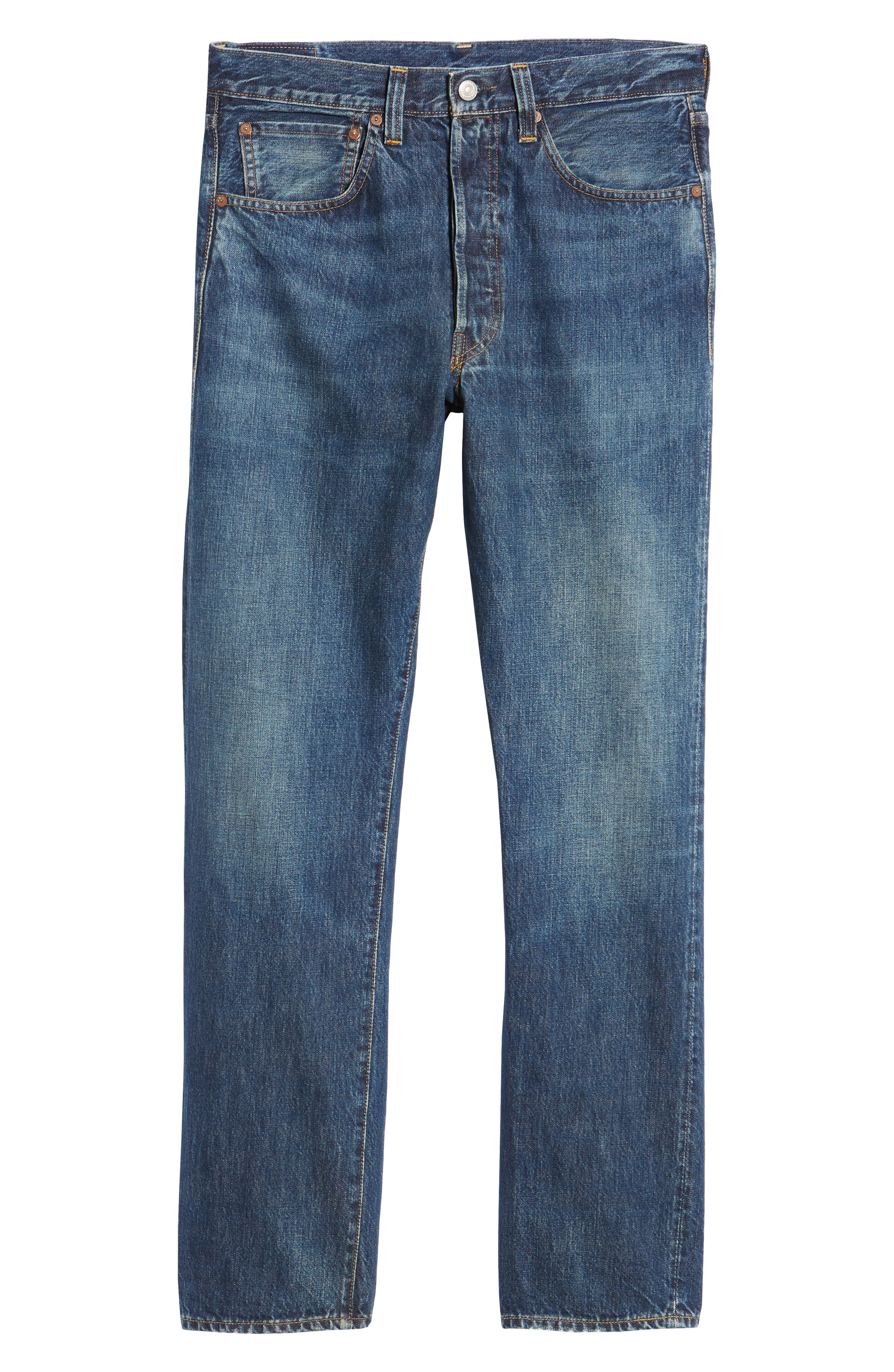 LEVI'S<SUP>®</SUP> VINTAGE CLOTHING, 1947 501<sup>®</sup> Straight Leg Jeans, Alternate thumbnail 6, color, 402