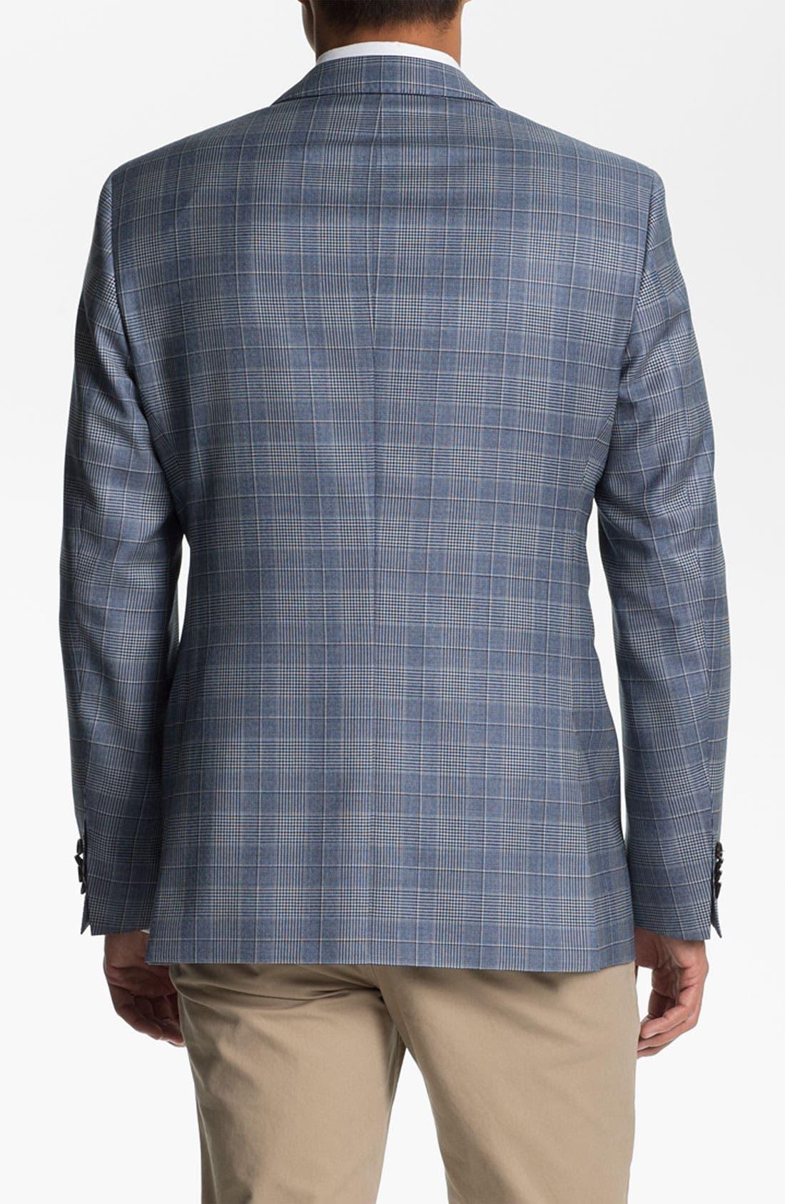 ZZDNUHUGO BOSS, BOSS Black 'James' Trim Fit Plaid Sportcoat, Alternate thumbnail 5, color, 460