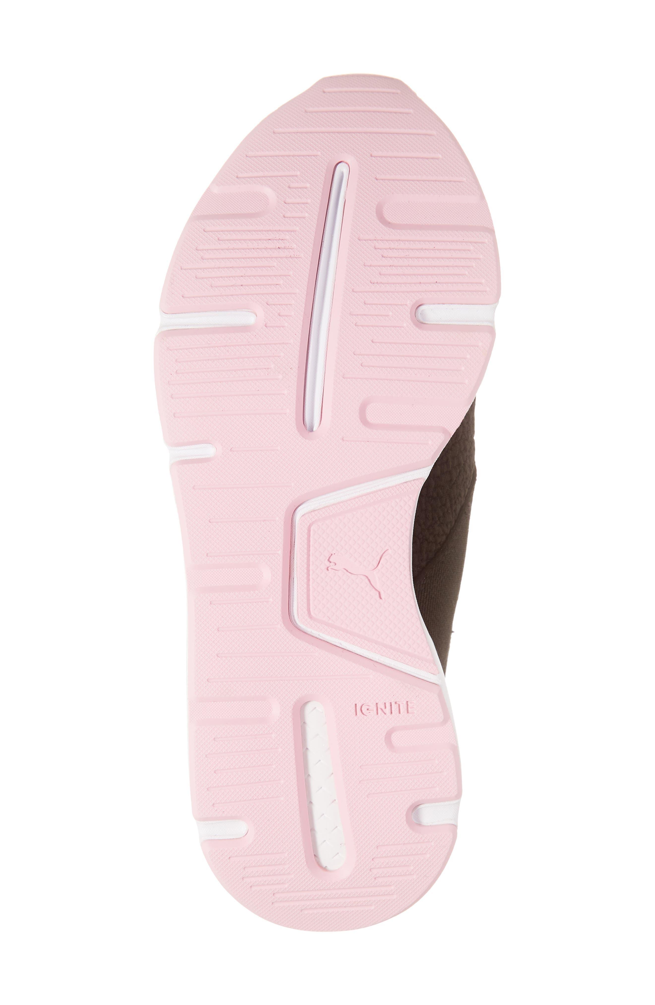 PUMA, Muse TZ Sneaker, Alternate thumbnail 6, color, BLACK/ PALE PINK