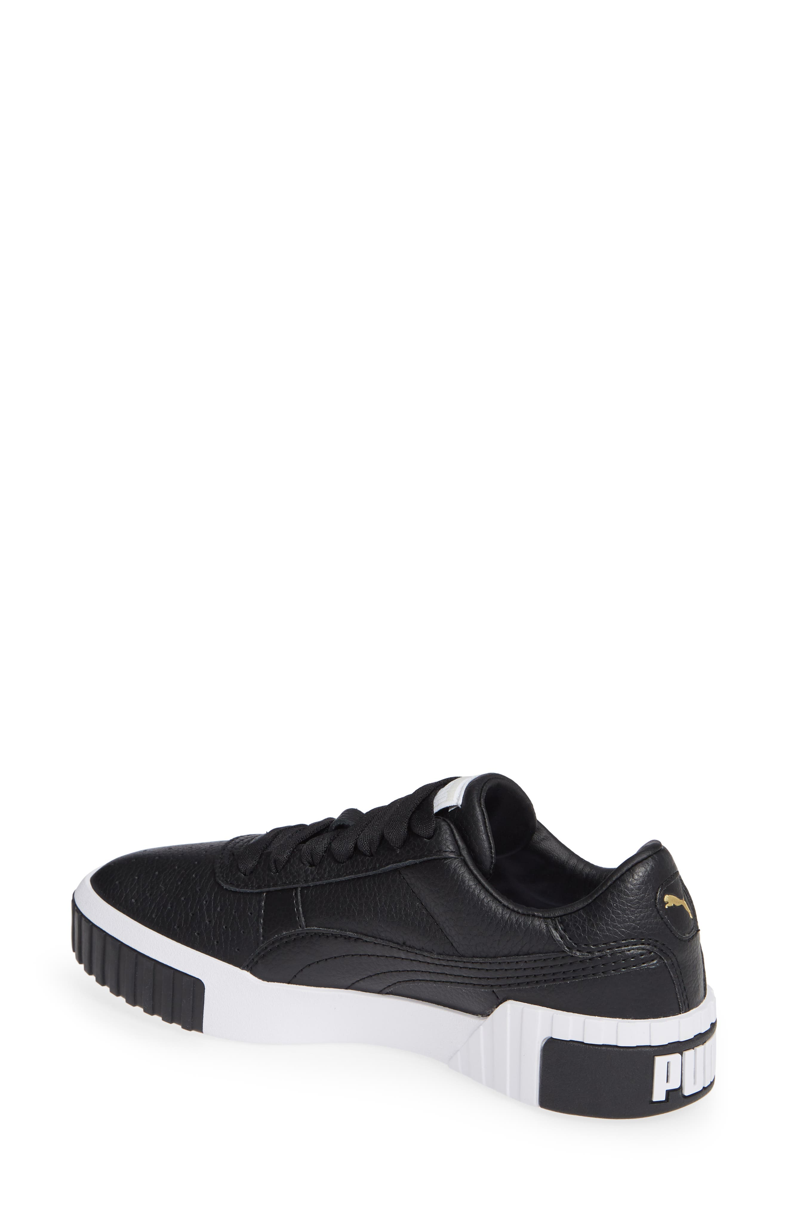 PUMA, Cali Sneaker, Alternate thumbnail 2, color, PUMA BLACK/ PUMA WHITE