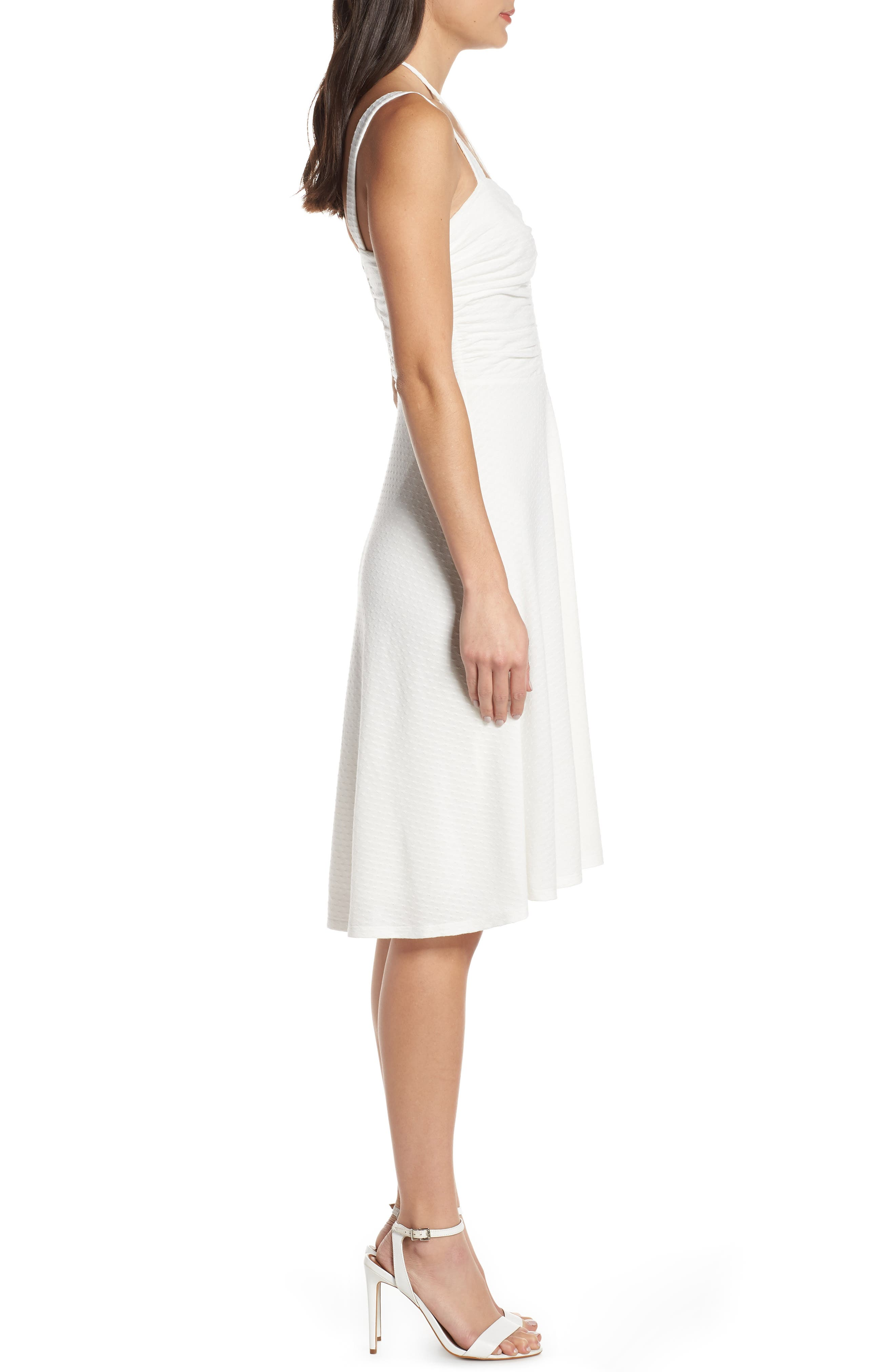 ALI & JAY, Smell the Flowers Fit & Flare Dress, Alternate thumbnail 4, color, WHITE