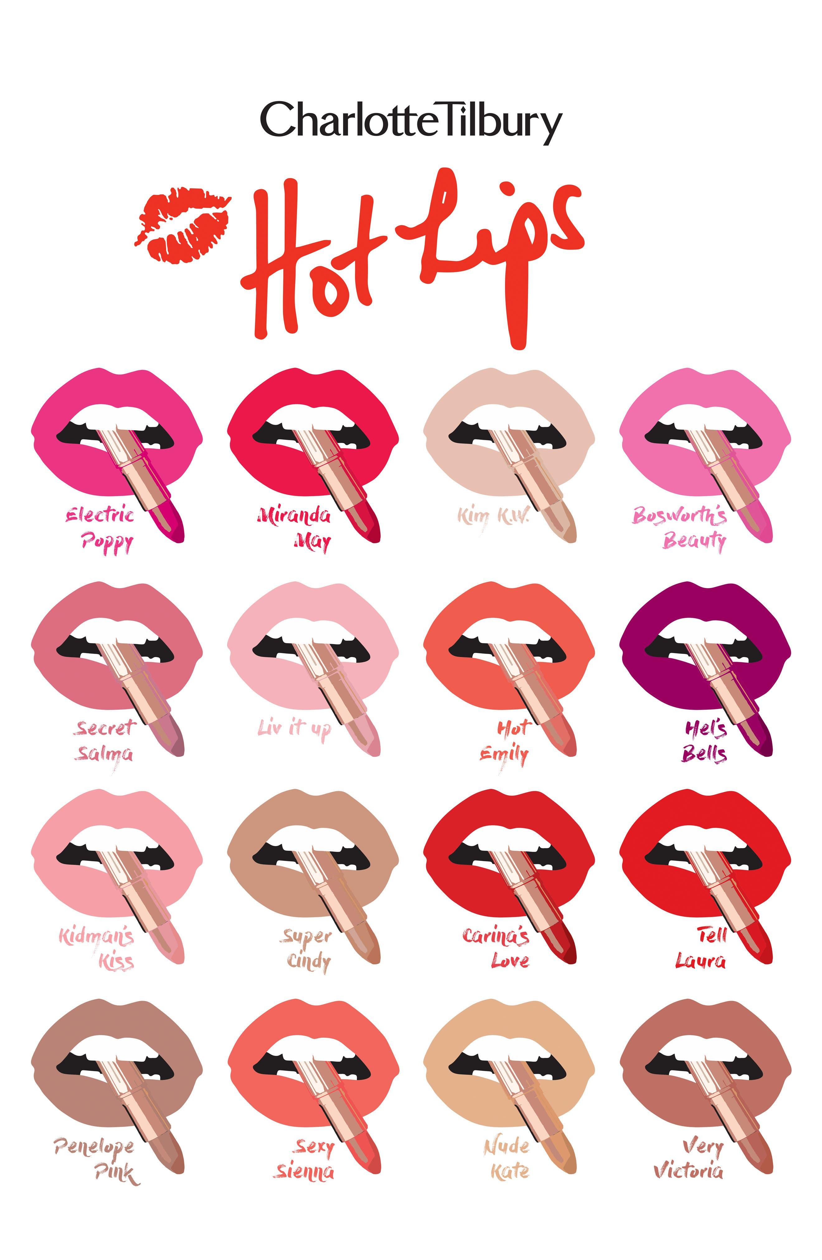CHARLOTTE TILBURY, Hot Lips Lipstick, Alternate thumbnail 2, color, BOSWORTH'S BEAUTY