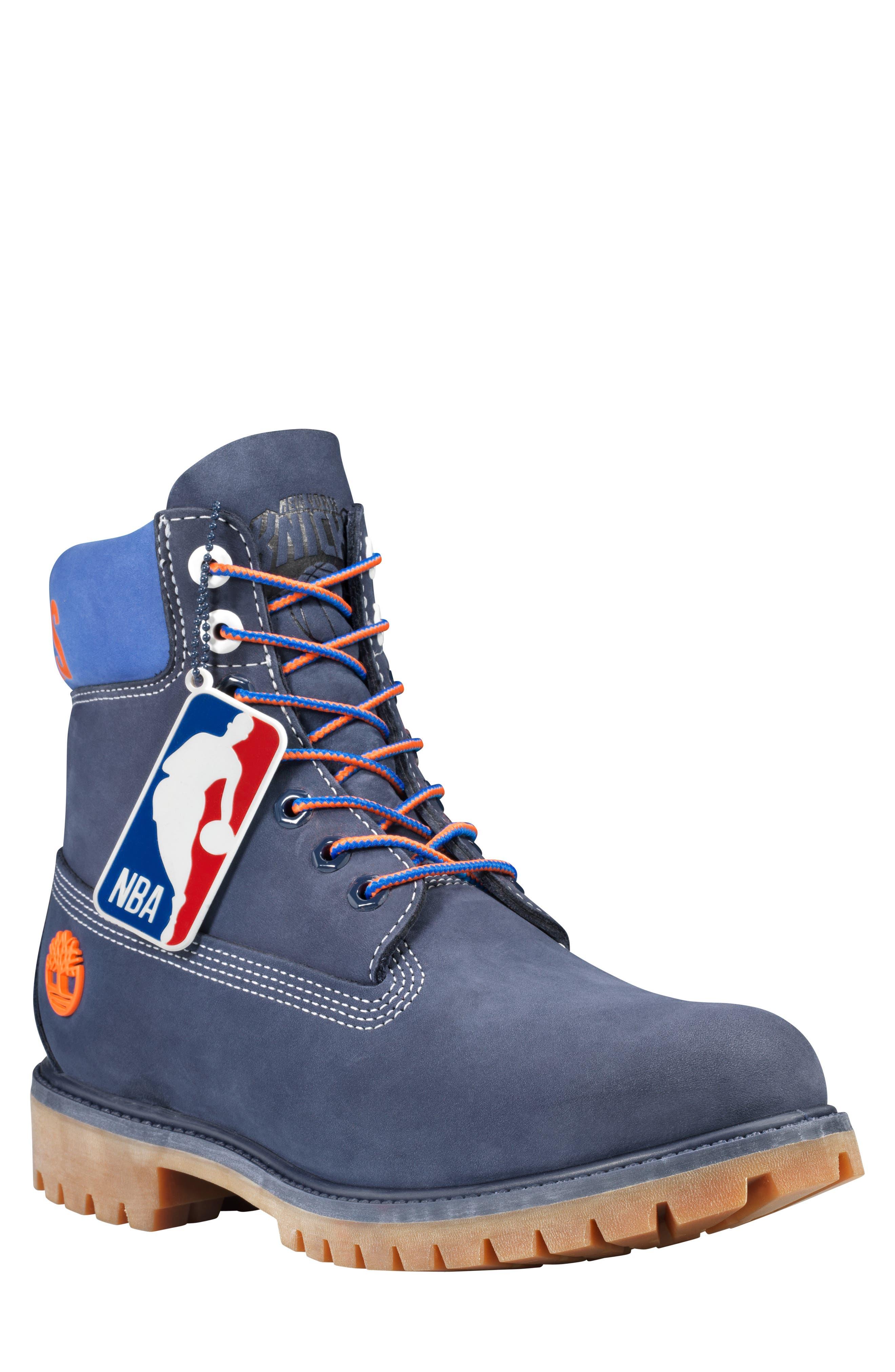 Timberland New York Knicks Plain Toe Boot, Blue