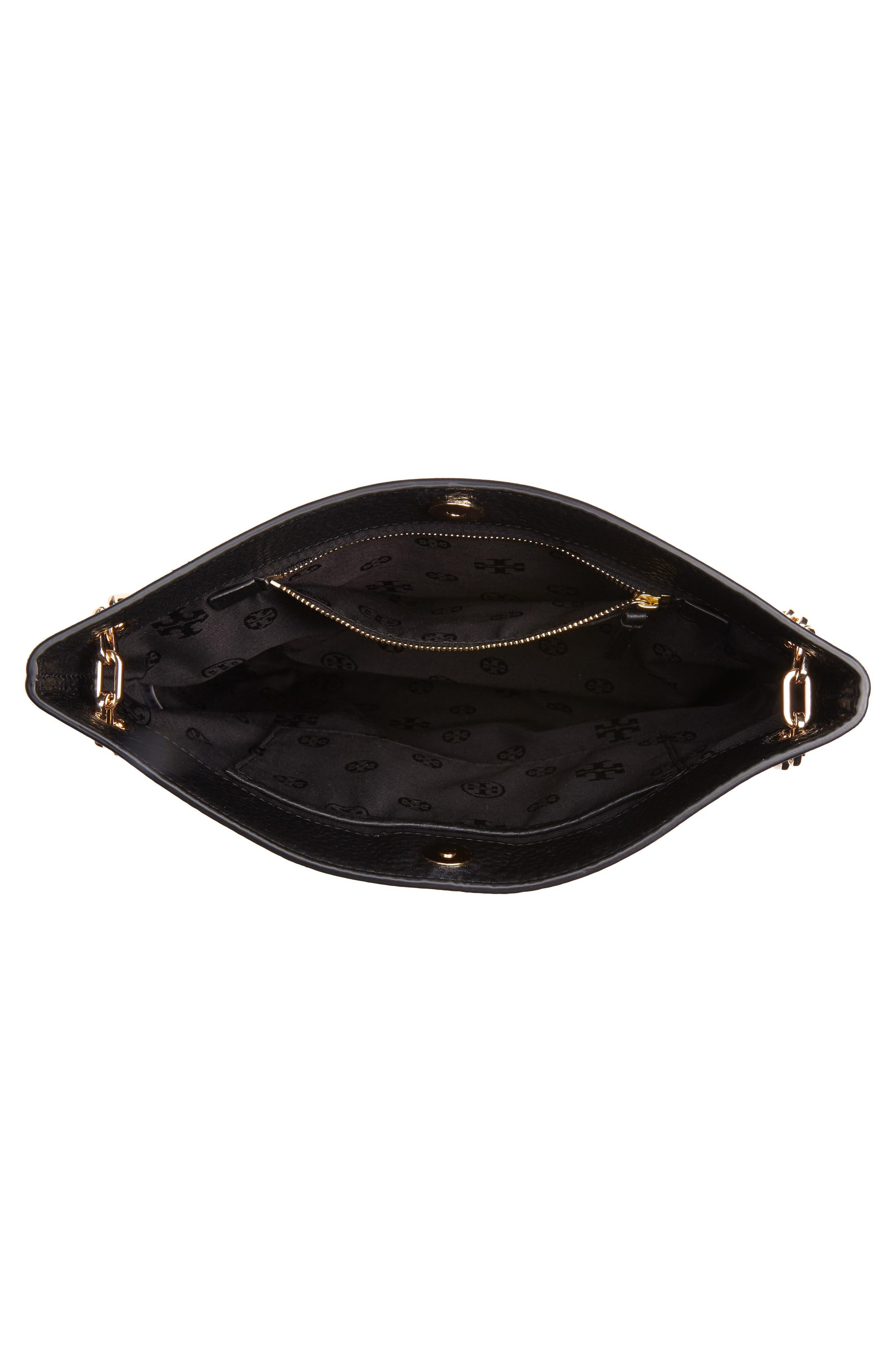 TORY BURCH, Marsden Swingpack Leather Crossbody Bag, Alternate thumbnail 4, color, 001