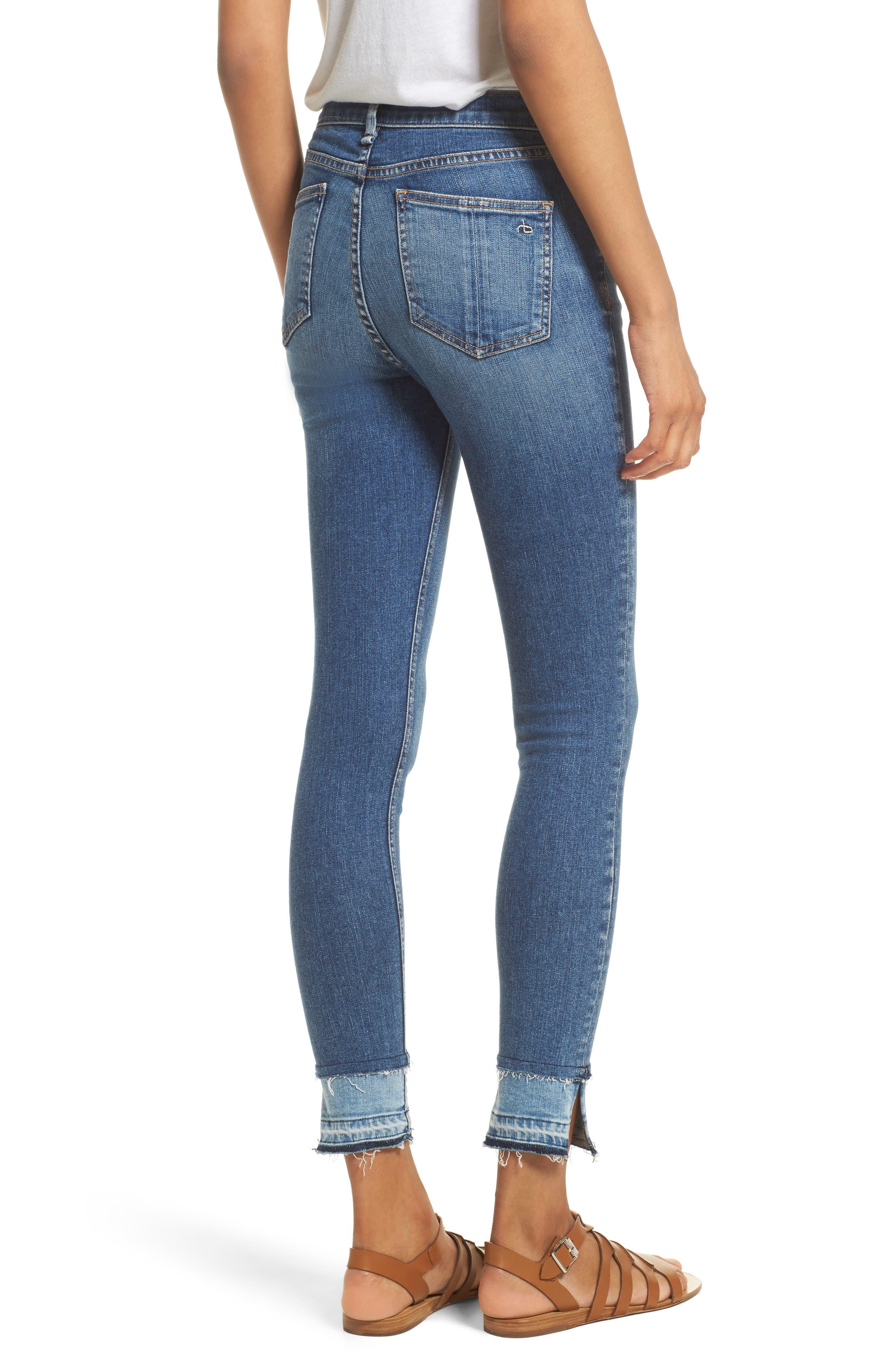 RAG & BONE, High Waist Ankle Skinny Jeans, Alternate thumbnail 2, color, 427