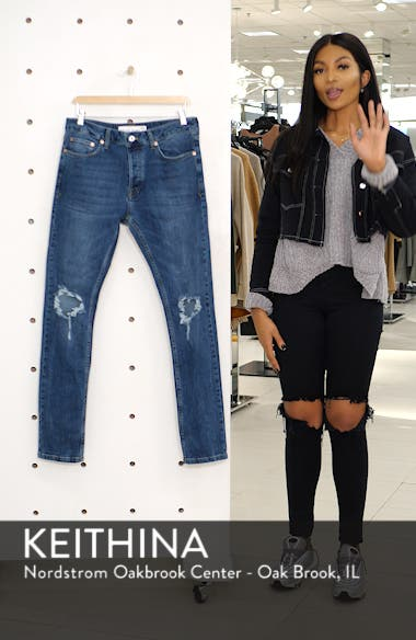 Polly Ripped Stretch Skinny Jeans, sales video thumbnail