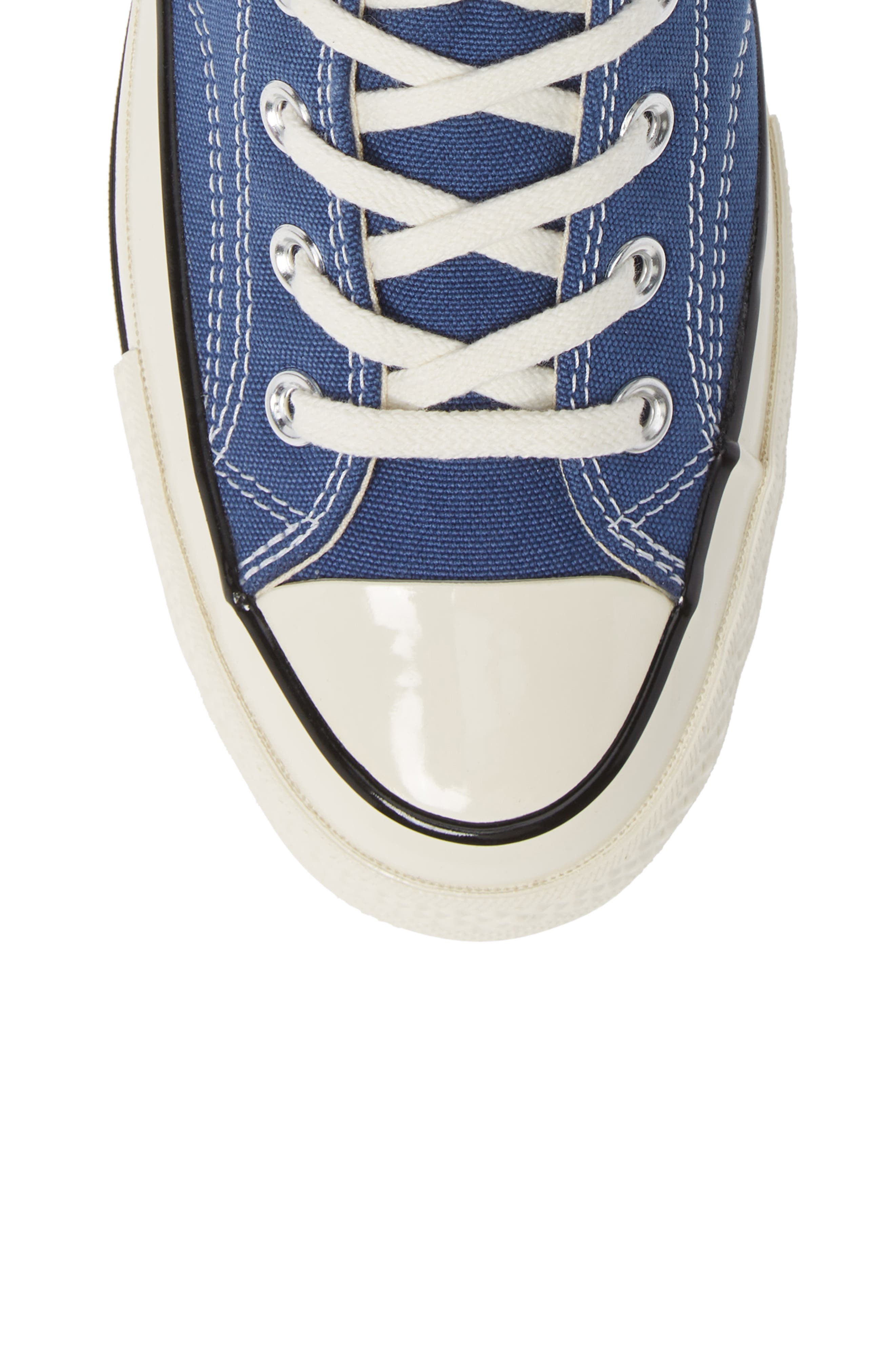 CONVERSE, Chuck Taylor<sup>®</sup> All Star<sup>®</sup> 70 Vintage High Top Sneaker, Alternate thumbnail 5, color, TRUE NAVY/ BLACK