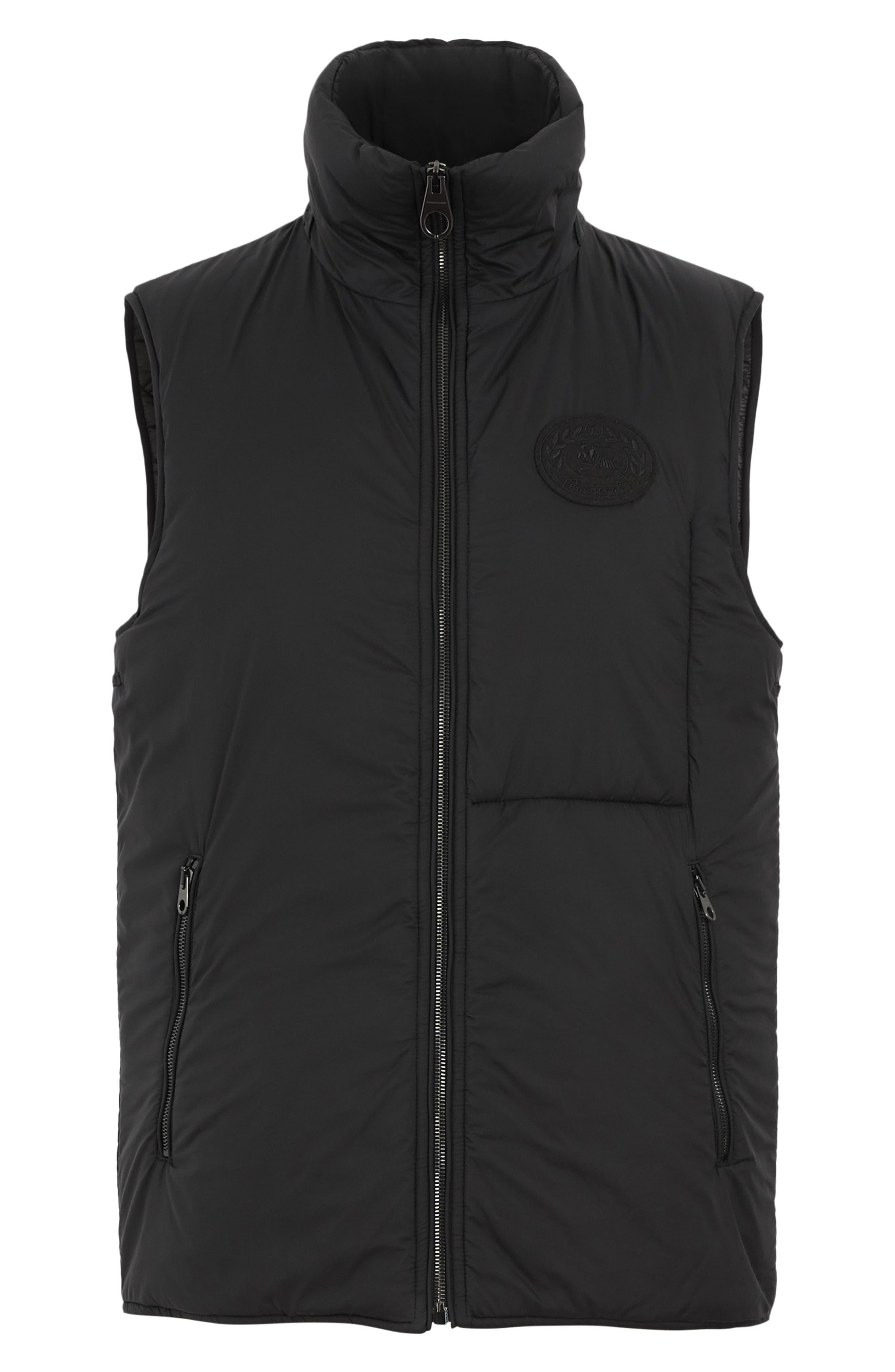 BURBERRY, Lenthorne Check Car Coat with Detachable Vest, Alternate thumbnail 7, color, DARK CAMEL