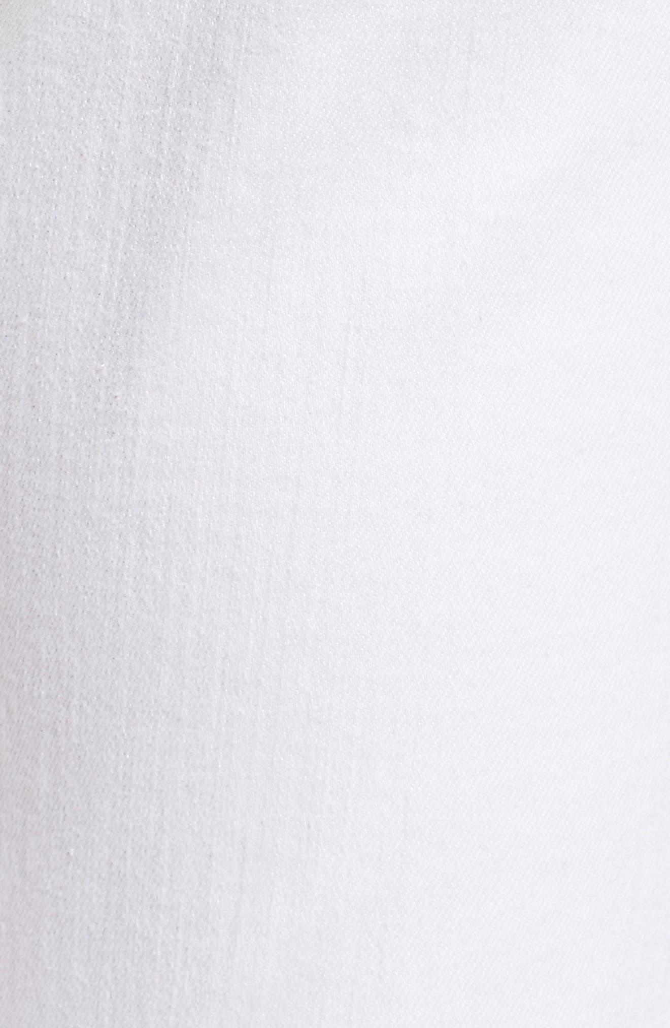 AG, The Farrah High Waist Ankle Skinny Jeans, Alternate thumbnail 6, color, UNCHARTED WHITE