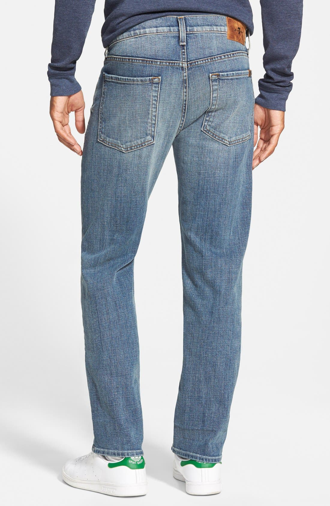 7 FOR ALL MANKIND<SUP>®</SUP>, 'Slimmy' Slim Fit Jeans, Alternate thumbnail 3, color, 400