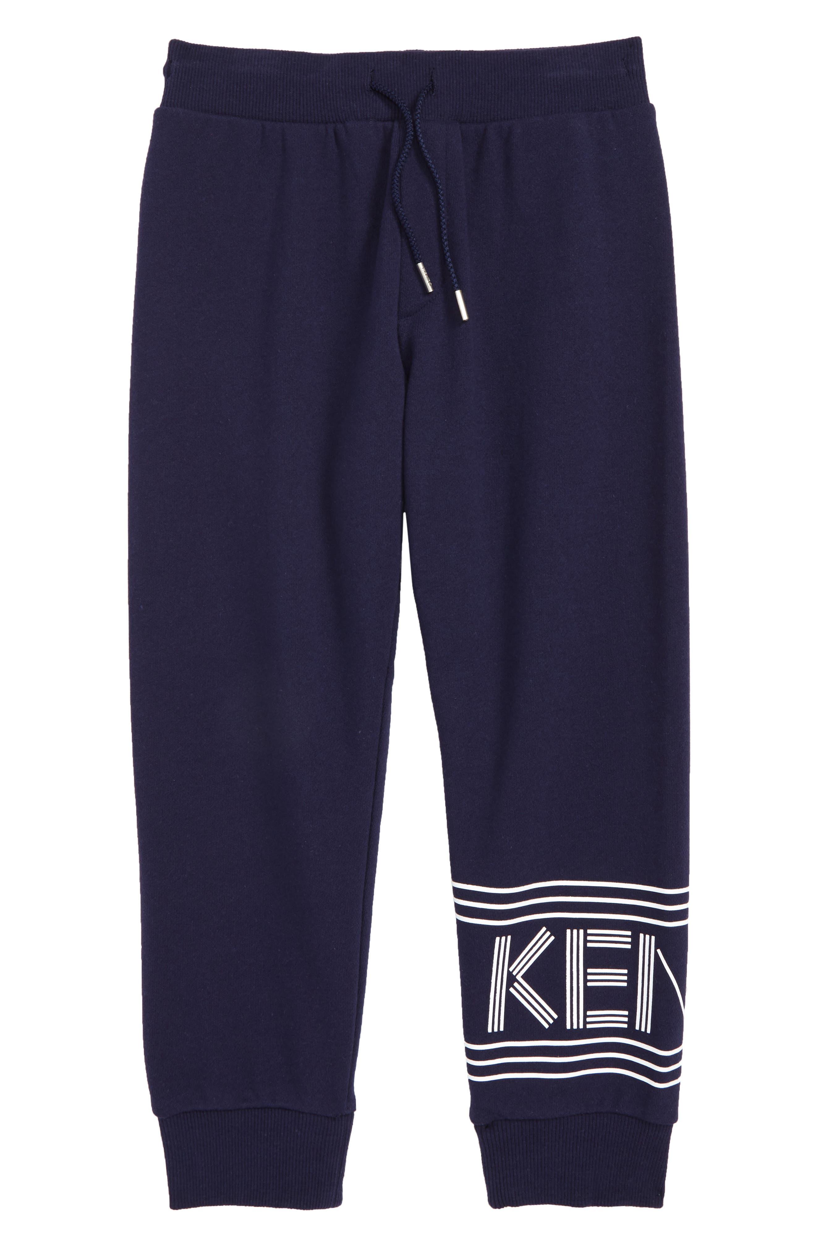 KENZO, Logo Jogger Sweatpants, Main thumbnail 1, color, NAVY