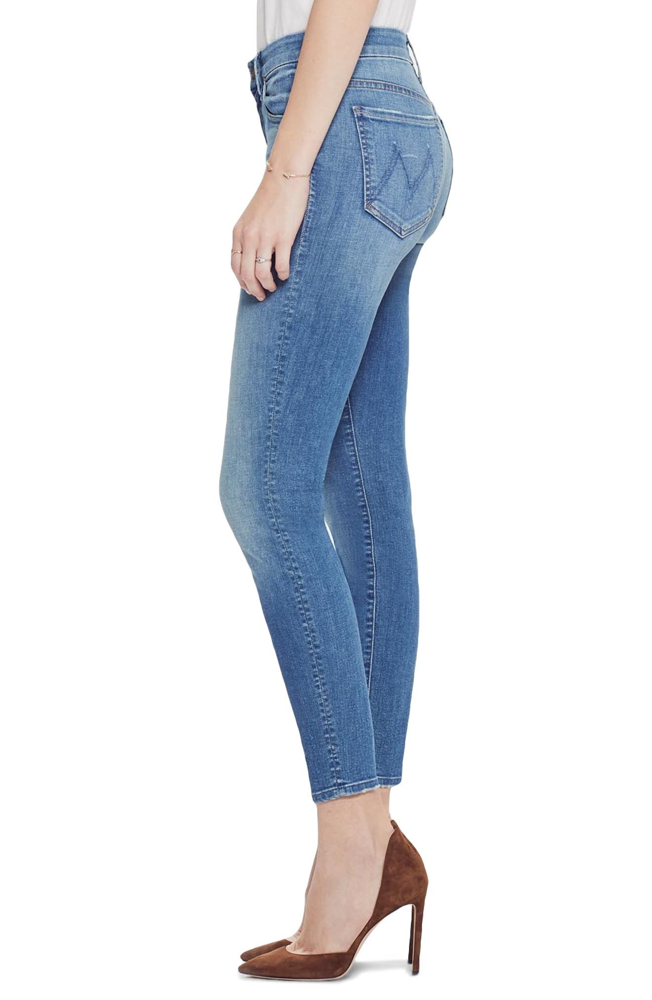 MOTHER, The Looker Crop Skinny Jeans, Alternate thumbnail 4, color, WISHFUL DRINKING
