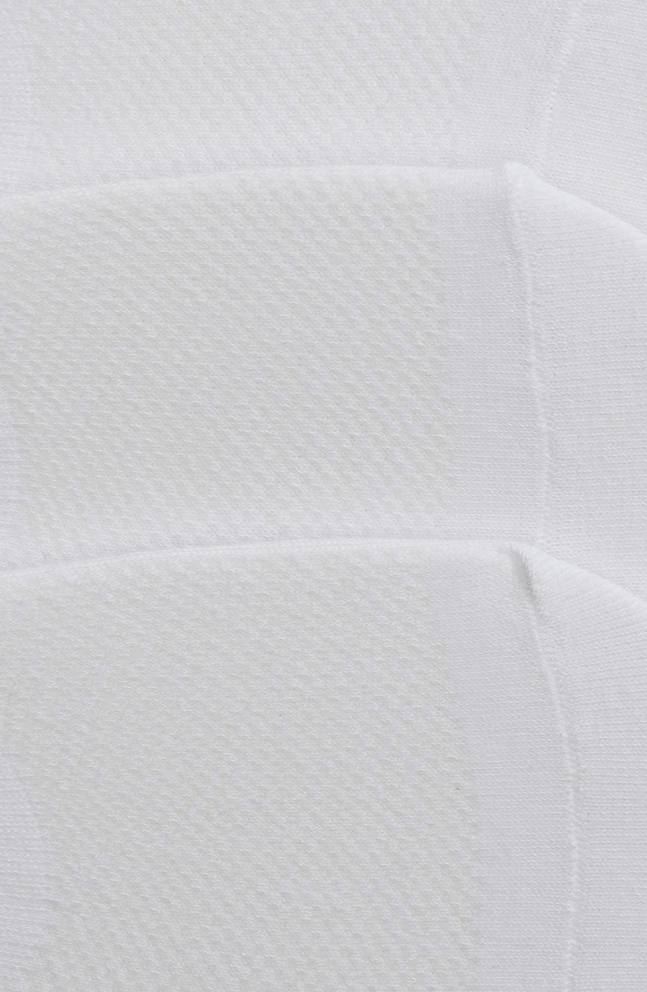 NORDSTROM, 3-Pack Liner Socks, Alternate thumbnail 2, color, WHITE