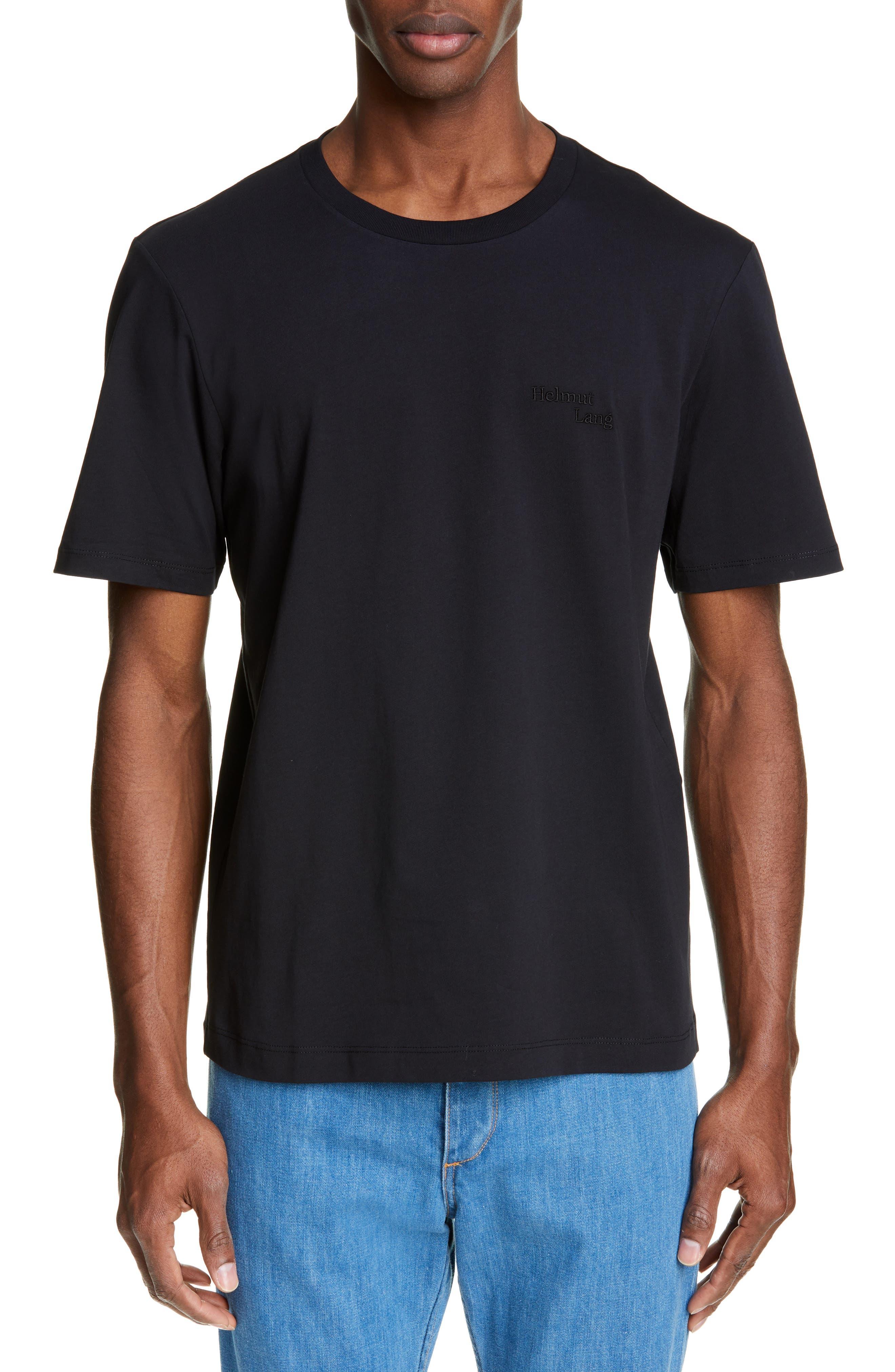 HELMUT LANG Stacked Logo T-Shirt, Main, color, BLACK BASALT