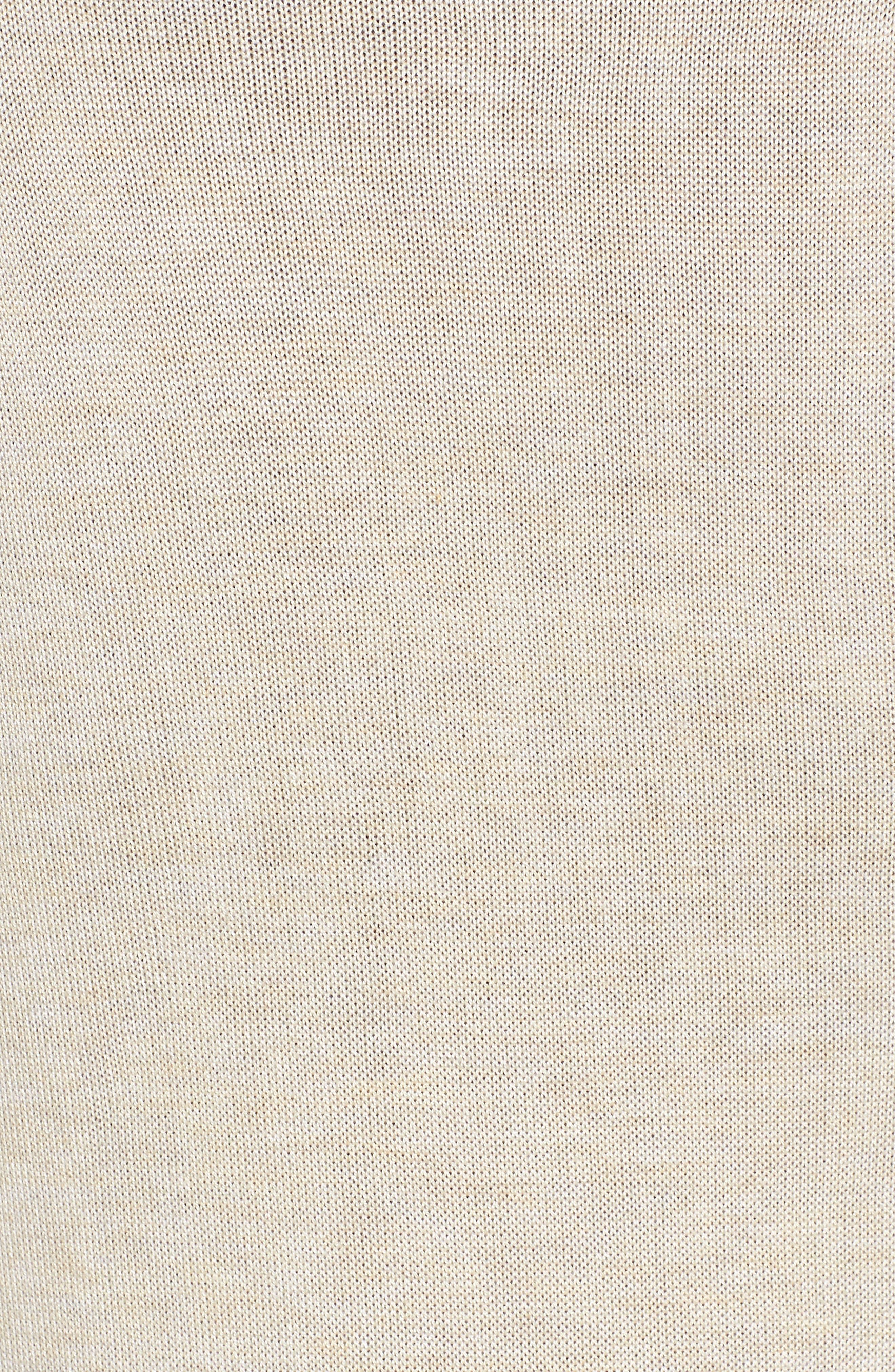 LA FIORENTINA, Longline Mesh Vest, Alternate thumbnail 5, color, BEIGE