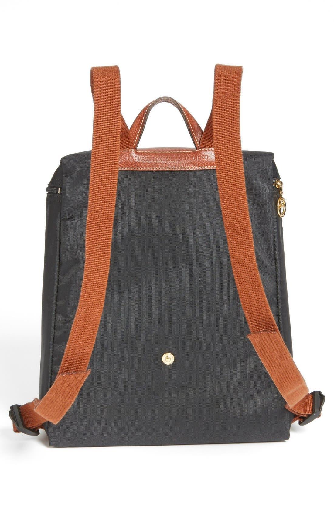 LONGCHAMP, 'Le Pliage' Backpack, Alternate thumbnail 8, color, GUNMETAL