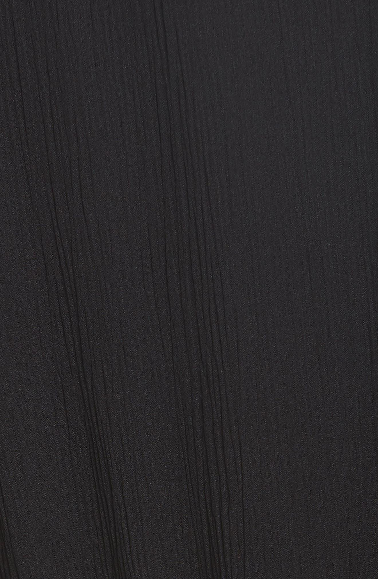 RAG & BONE, Dinah Silk Dress, Alternate thumbnail 6, color, 001