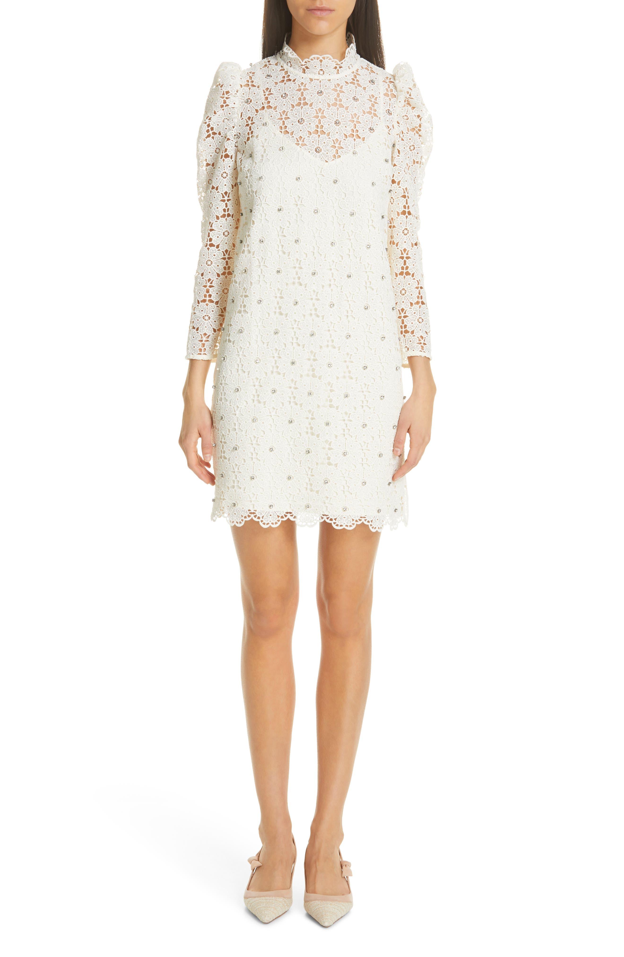 Kate Spade New York Lace Mini Dress, White