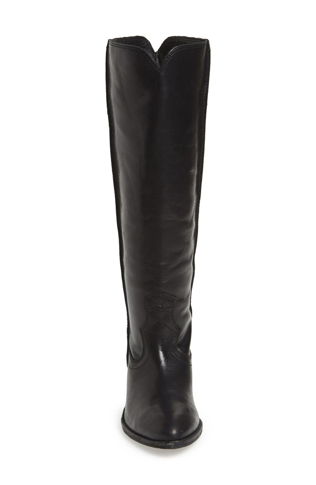 FRYE, 'Ray Seam' Tall Boot, Alternate thumbnail 3, color, 001