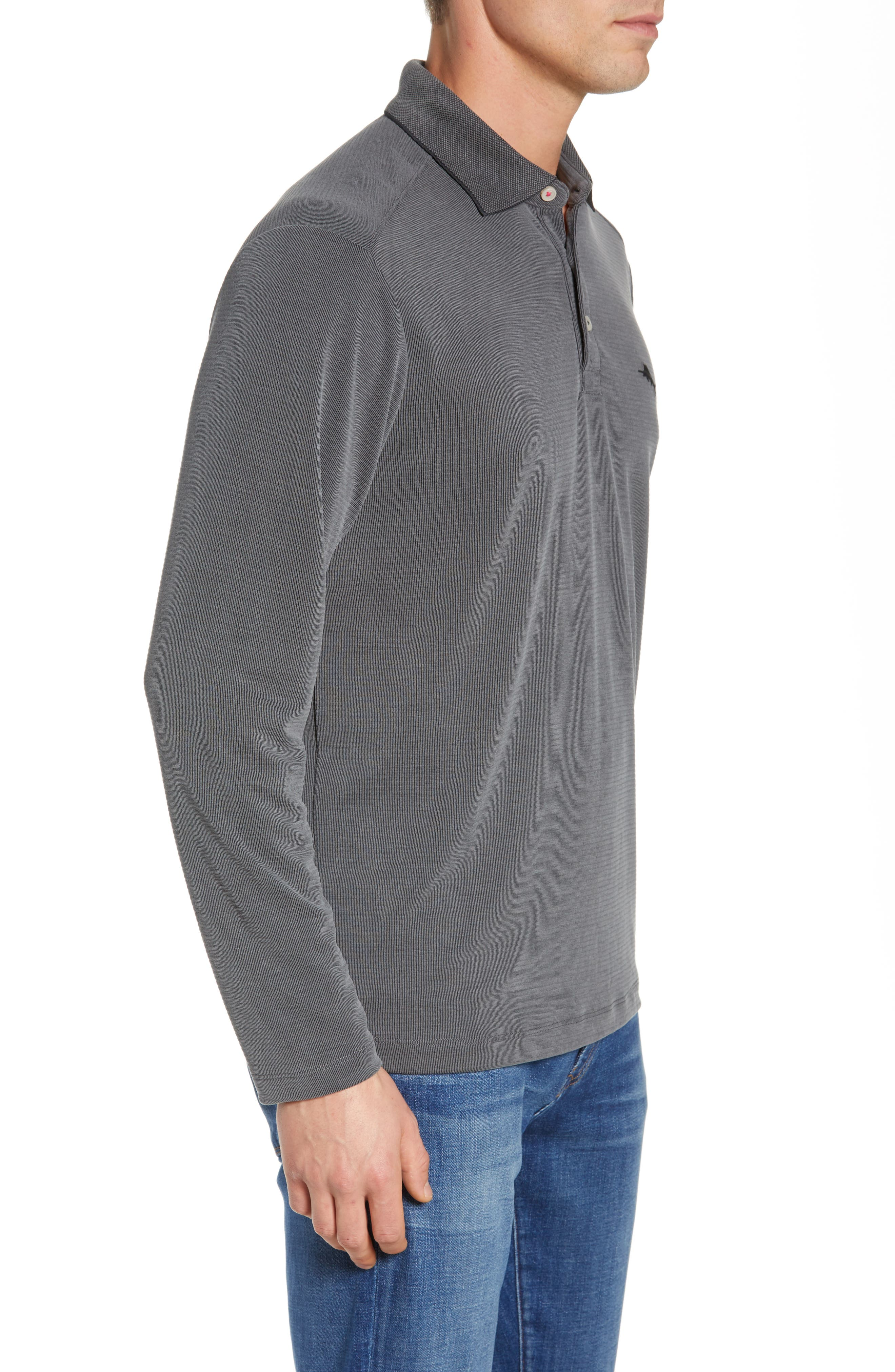 TOMMY BAHAMA, Coastal Crest Regular Fit Polo, Alternate thumbnail 3, color, BLACK