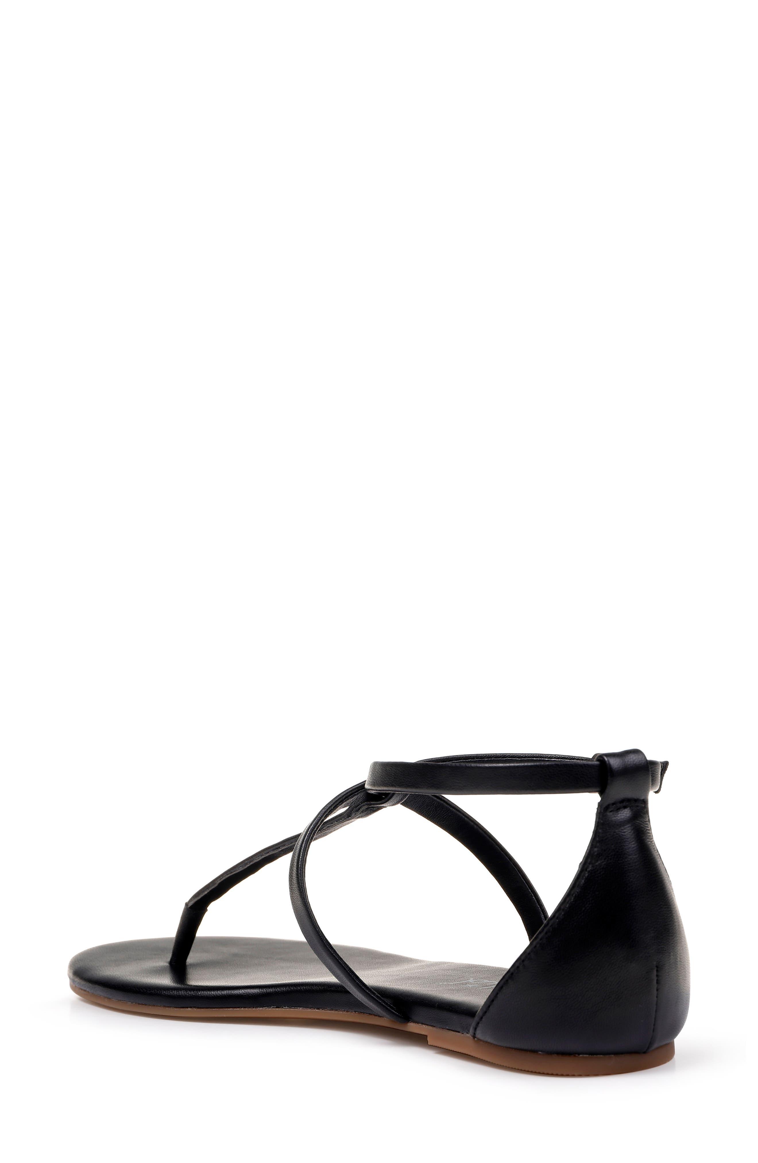 SPLENDID, Sundae T-Strap Sandal, Alternate thumbnail 2, color, BLACK LEATHER