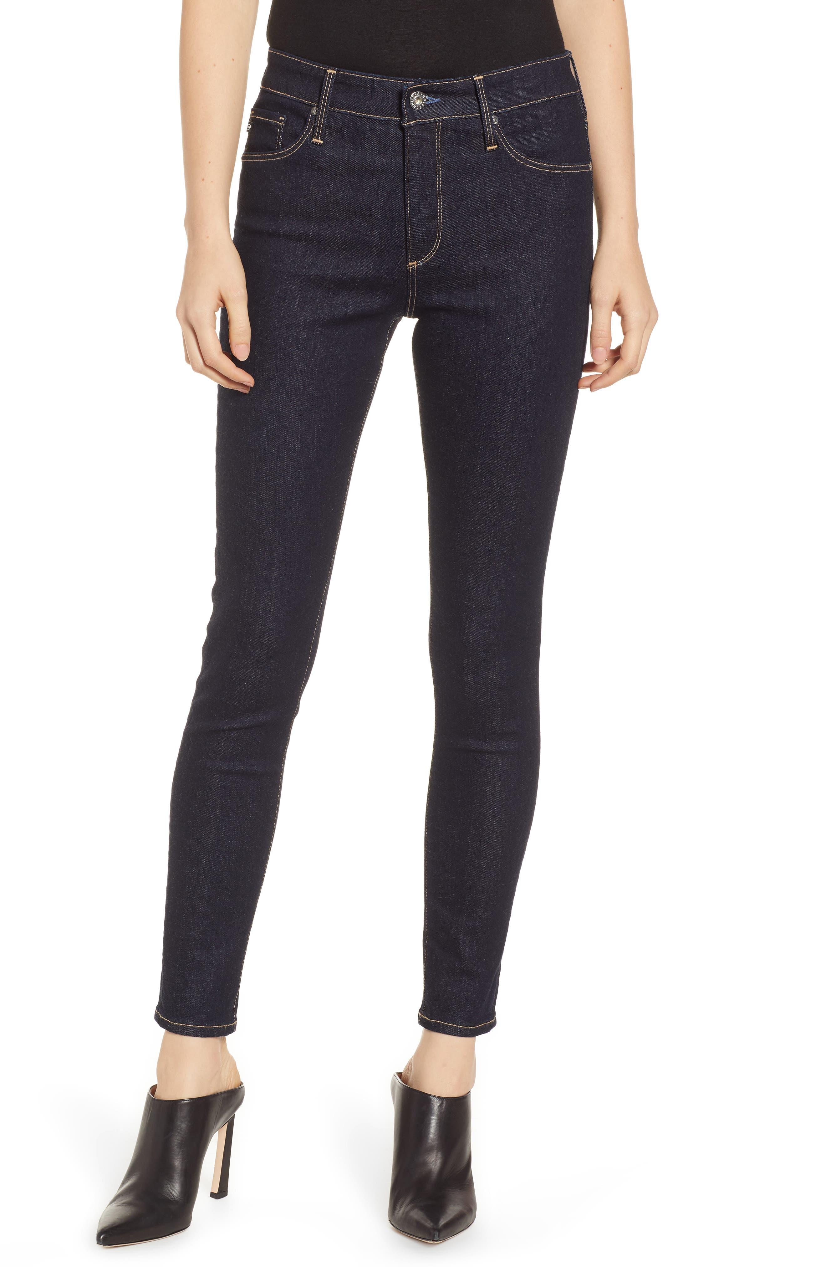 AG, The Farrah Ankle Skinny Jeans, Main thumbnail 1, color, INDIGO SPRING
